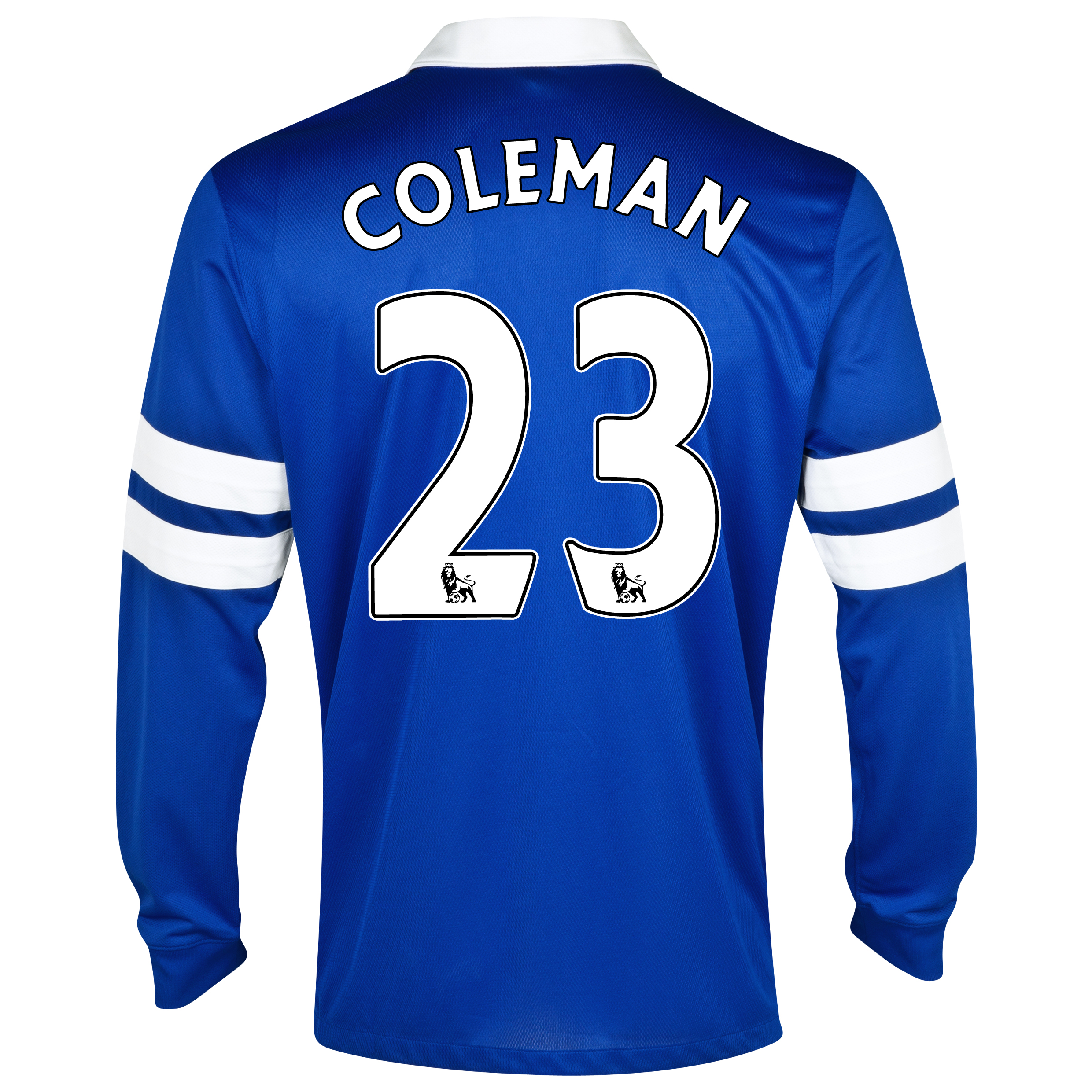 Everton Home Shirt 2013/14 - Junior - Long Sleeved Blue with Coleman 23 printing