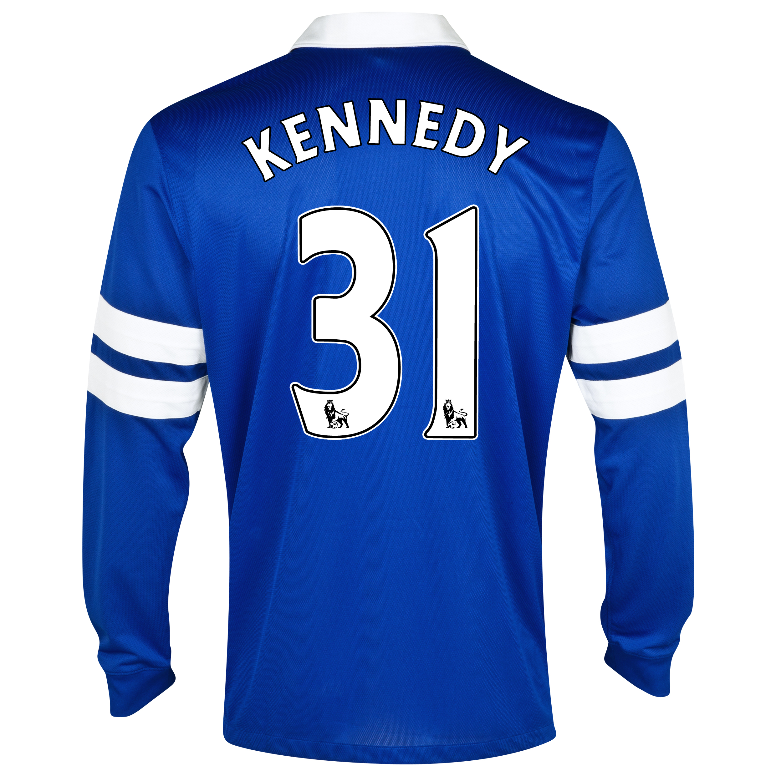 Everton Home Shirt 2013/14 - Junior - Long Sleeved Blue with Kennedy 31 printing