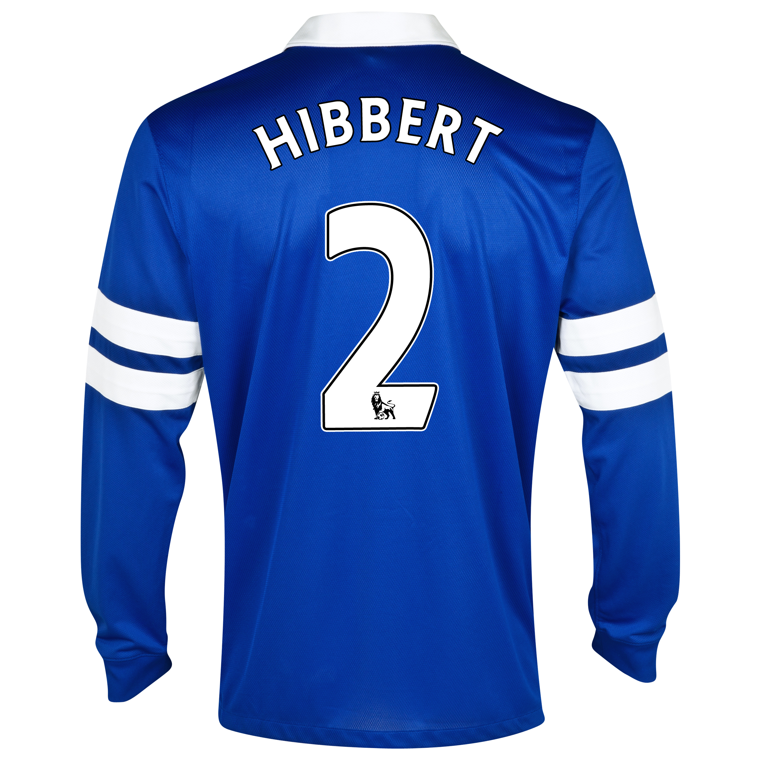 Everton Home Shirt 2013/14 - Long Sleeved Blue with Hibbert 2 printing