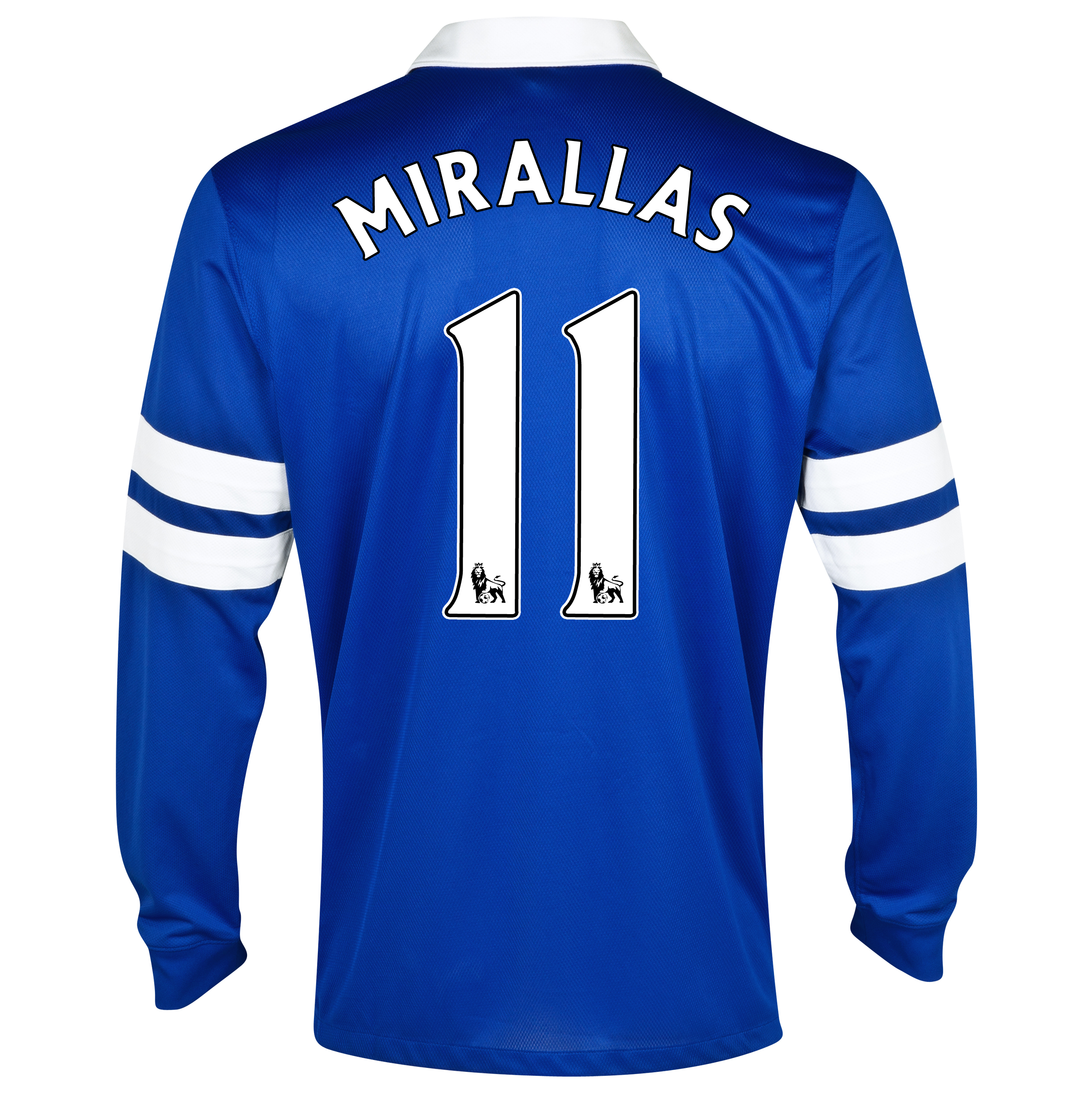 Everton Home Shirt 2013/14 - Long Sleeved Blue with Mirallas 11 printing