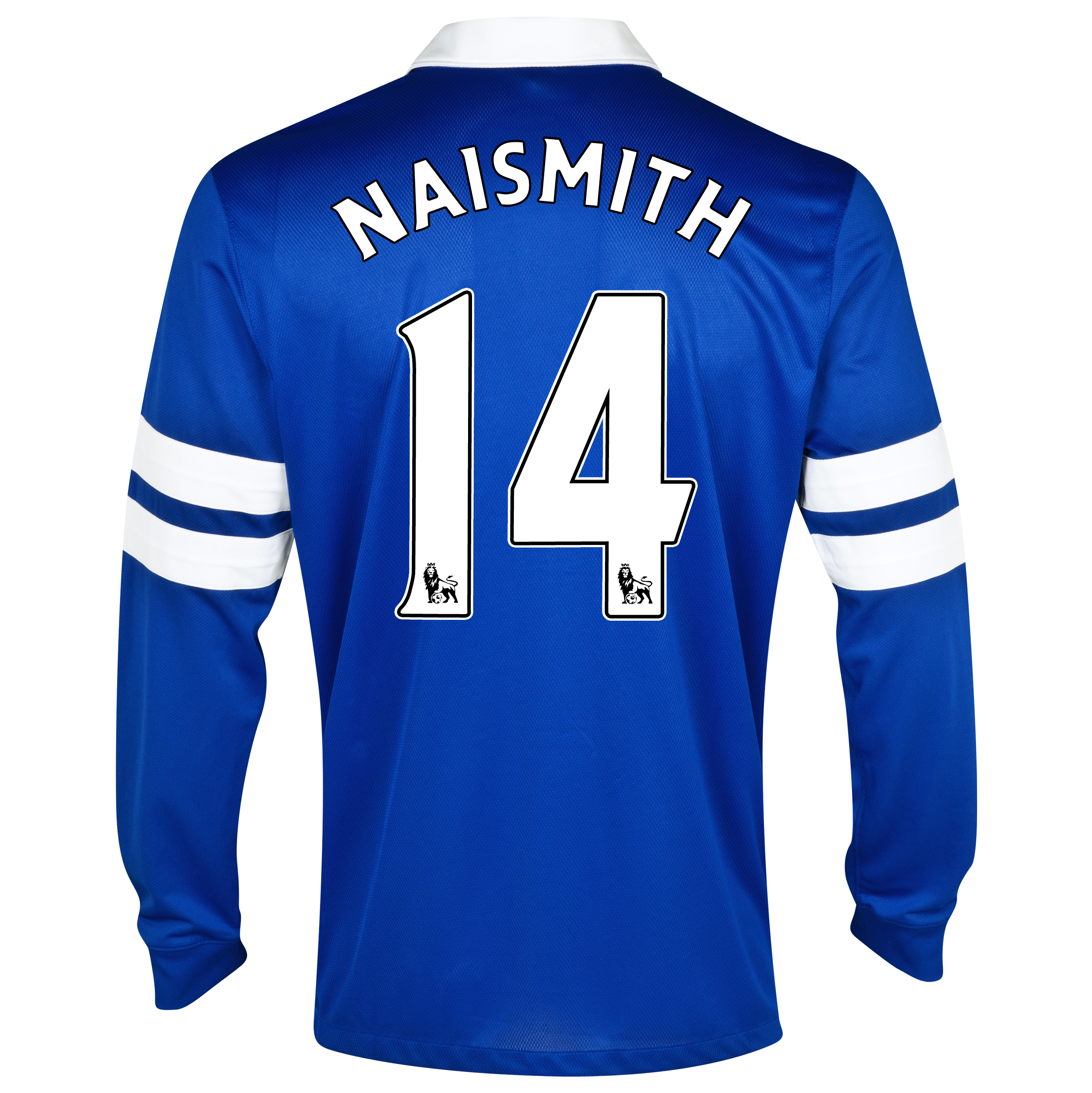 Everton Home Shirt 2013/14 - Long Sleeved Blue with Naismith 14 printing