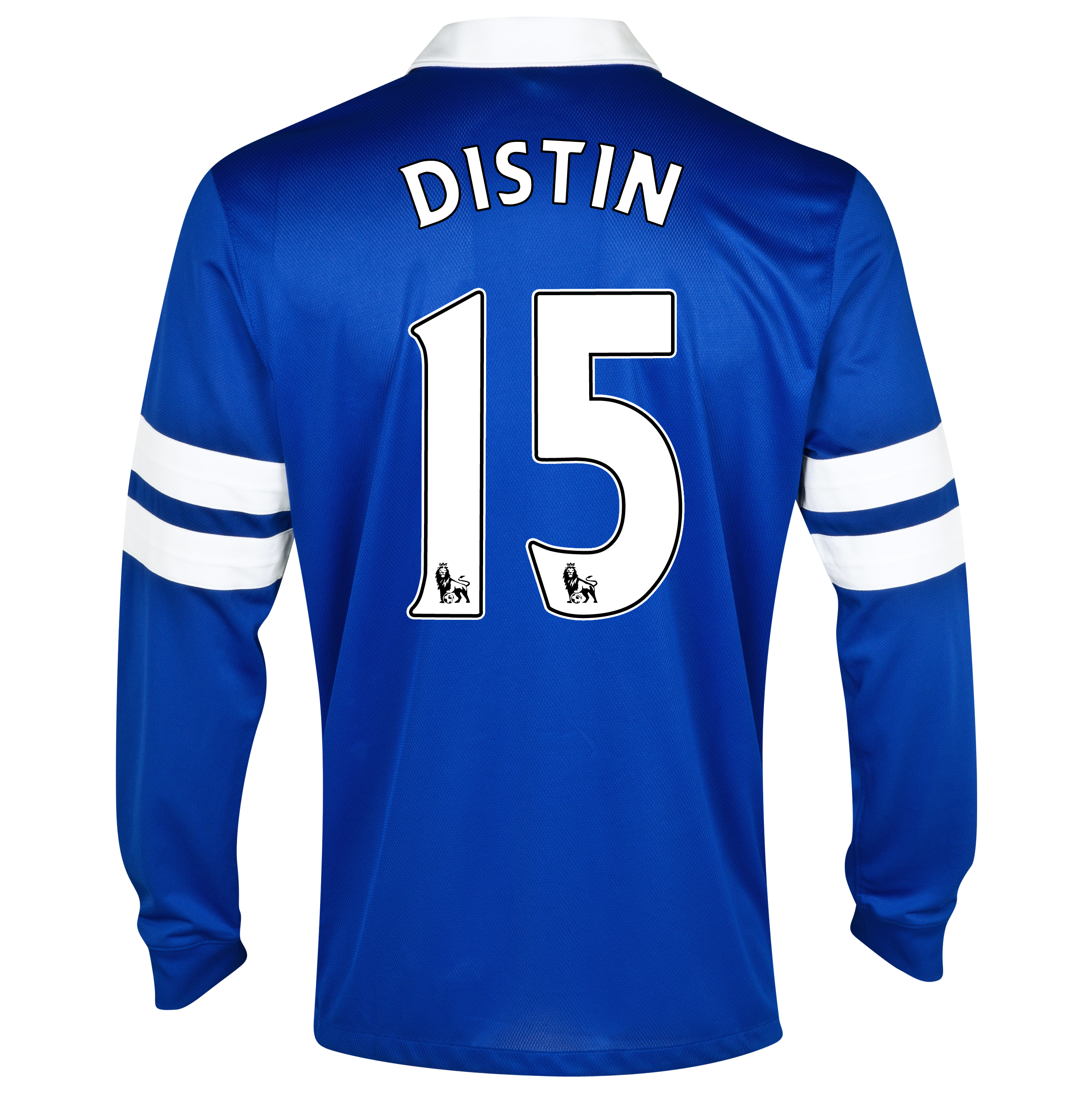 Everton Home Shirt 2013/14 - Long Sleeved Blue with Distin 15 printing