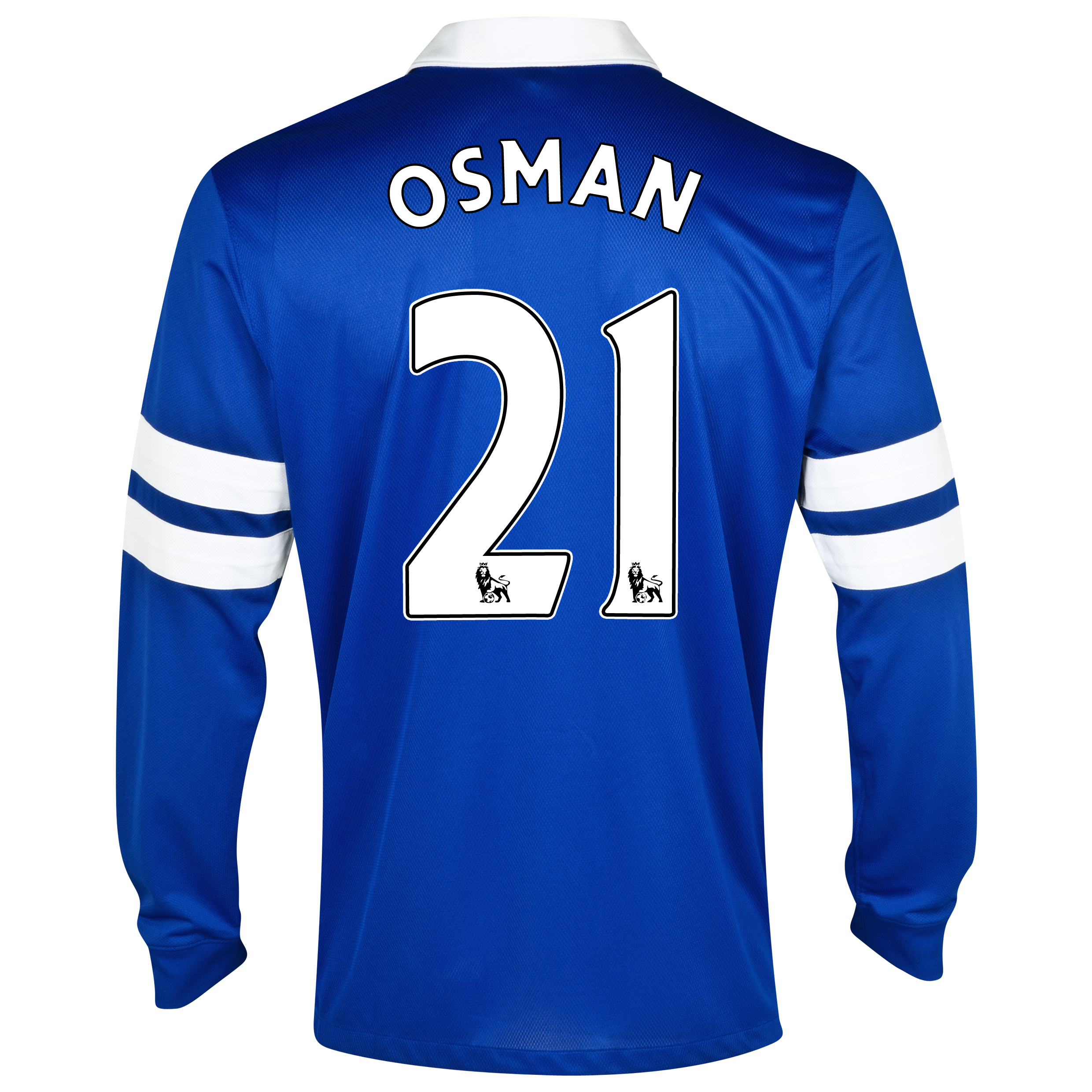 Everton Home Shirt 2013/14 - Long Sleeved Blue with Osman 21 printing