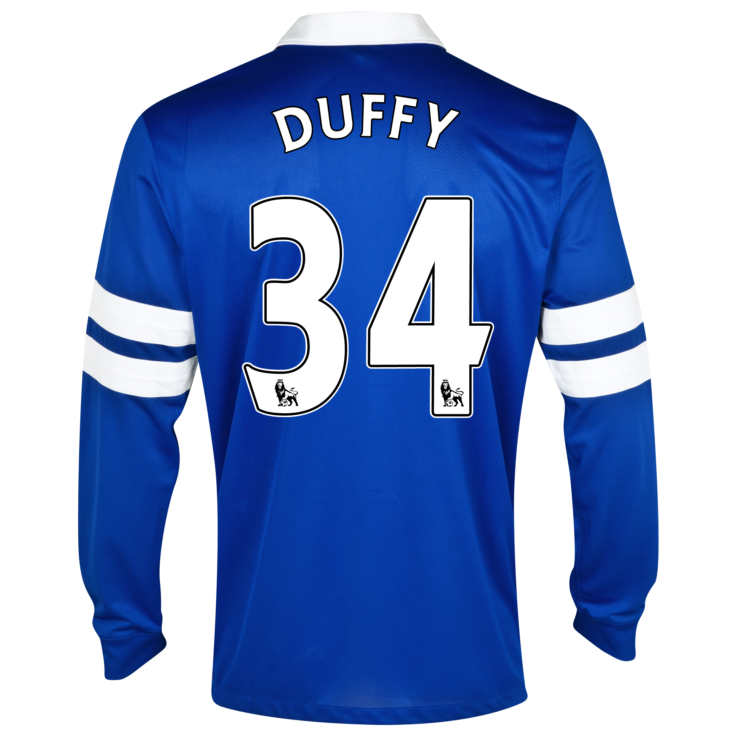 Everton Home Shirt 2013/14 - Long Sleeved Blue with Duffy 34 printing
