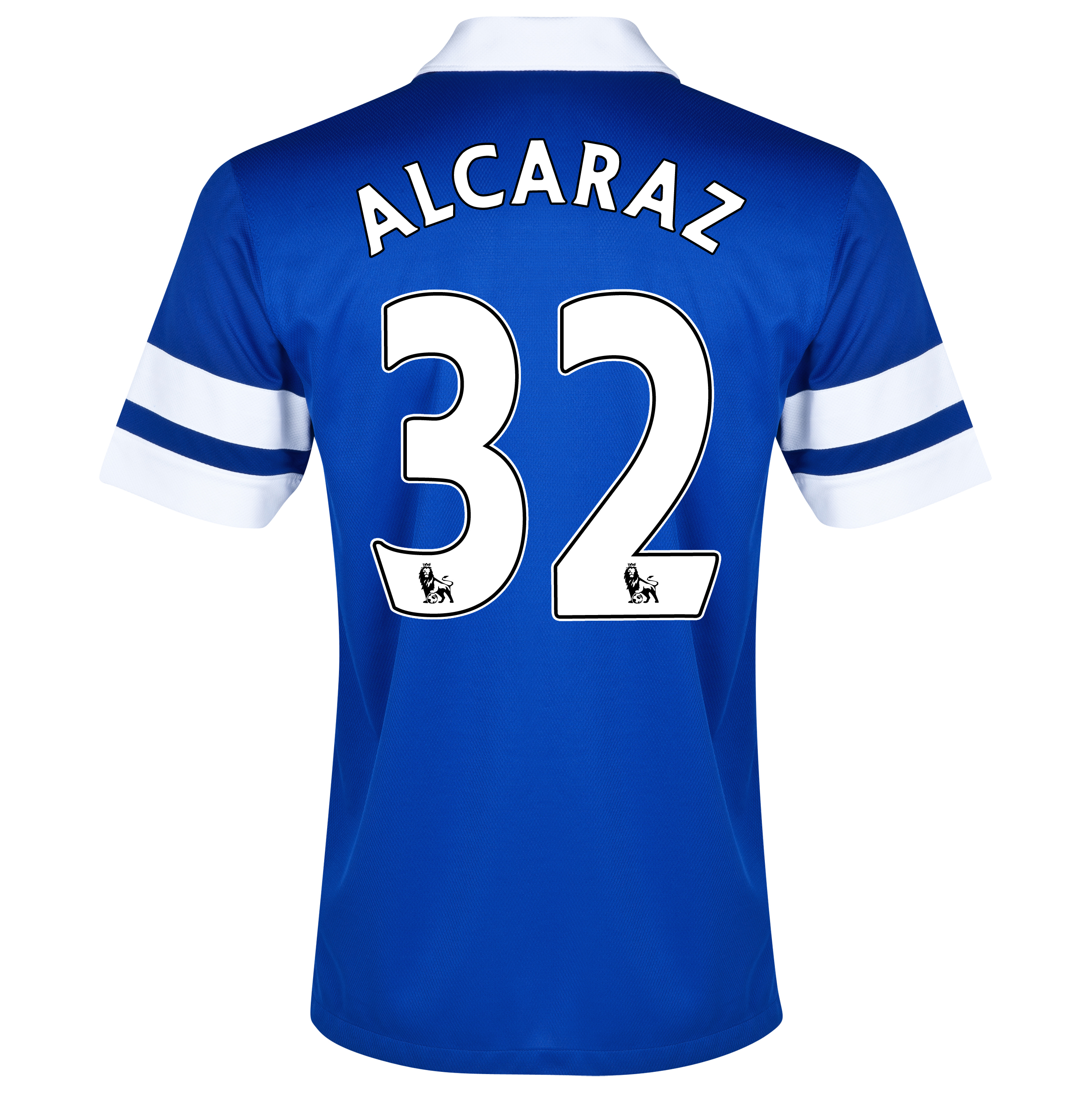 Everton Home Shirt 2013/14 Blue with Alcaraz 32 printing