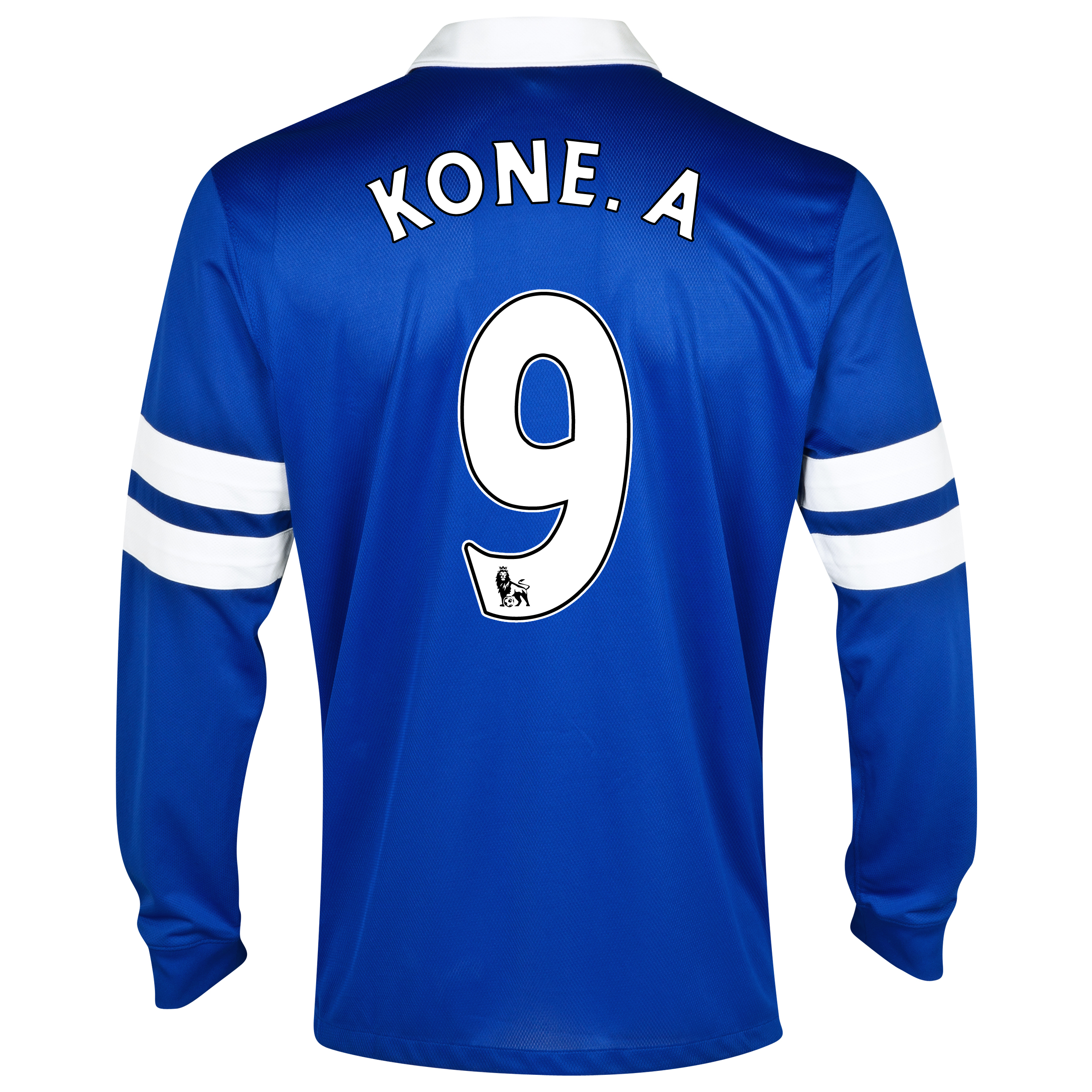 Everton Home Shirt 2013/14 - Junior - Long Sleeved Blue with Kone.A 9 printing