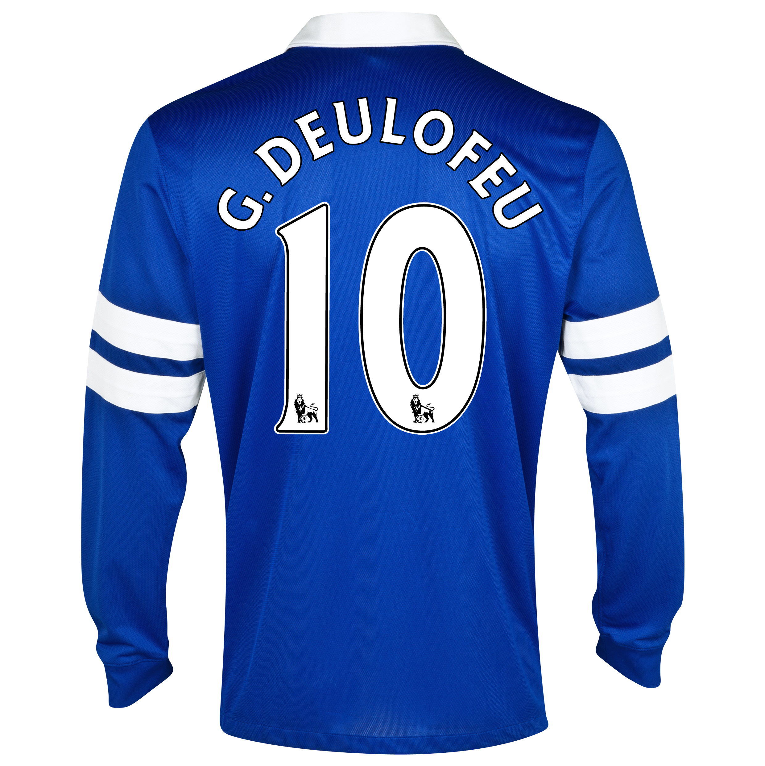 Everton Home Shirt 2013/14 - Long Sleeved Blue with G.Deulofeu 10 printing
