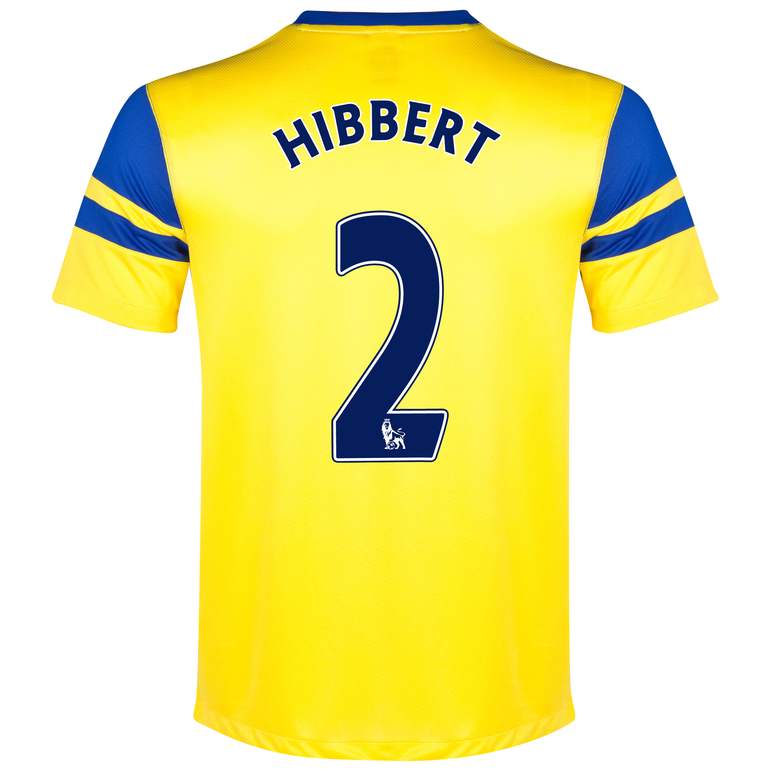 Everton Away Shirt 2013/14 Yellow with Hibbert 2 printing