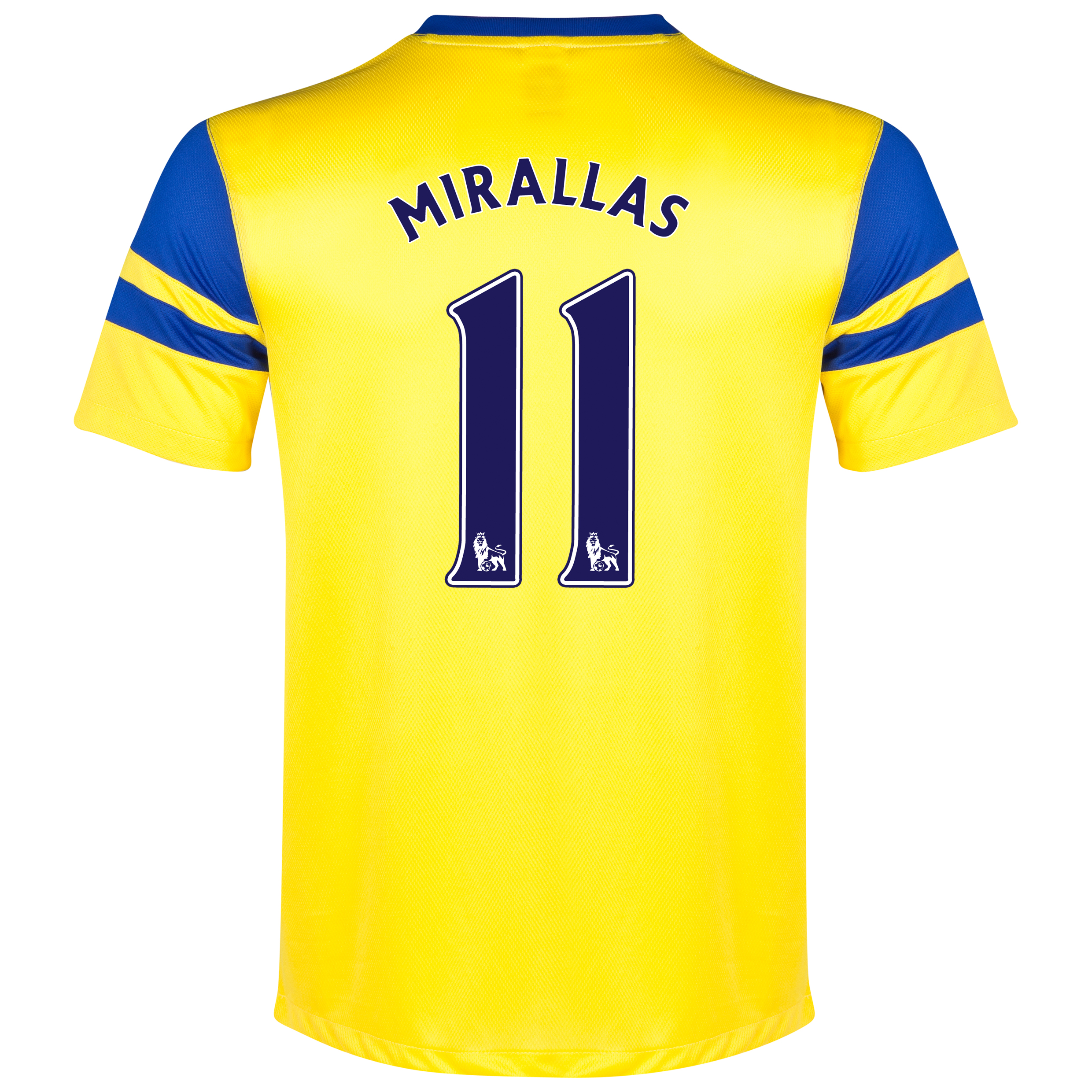 Everton Away Shirt 2013/14 Yellow with Mirallas 11 printing