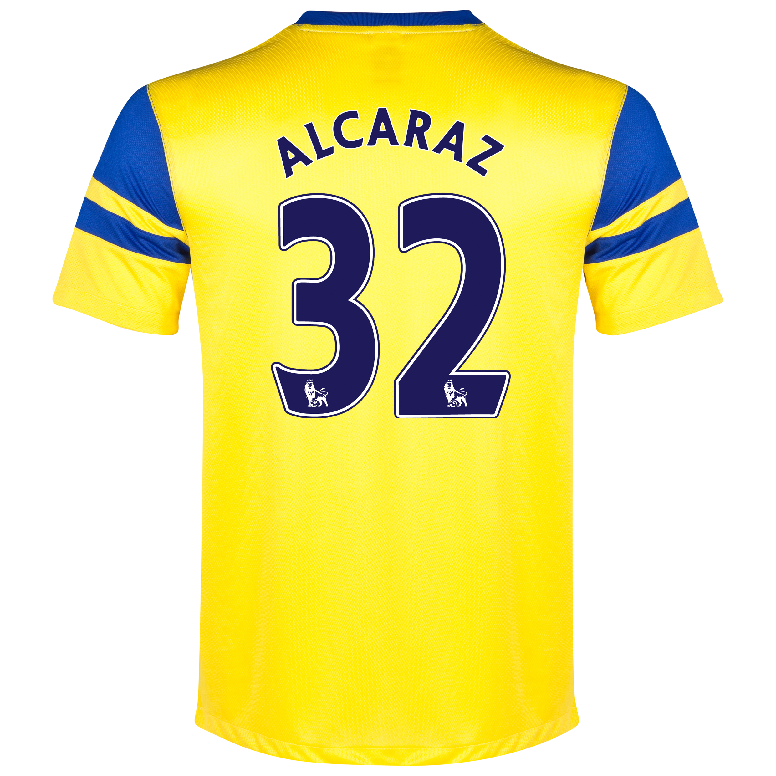 Everton Away Shirt 2013/14 Yellow with Alcaraz 32 printing
