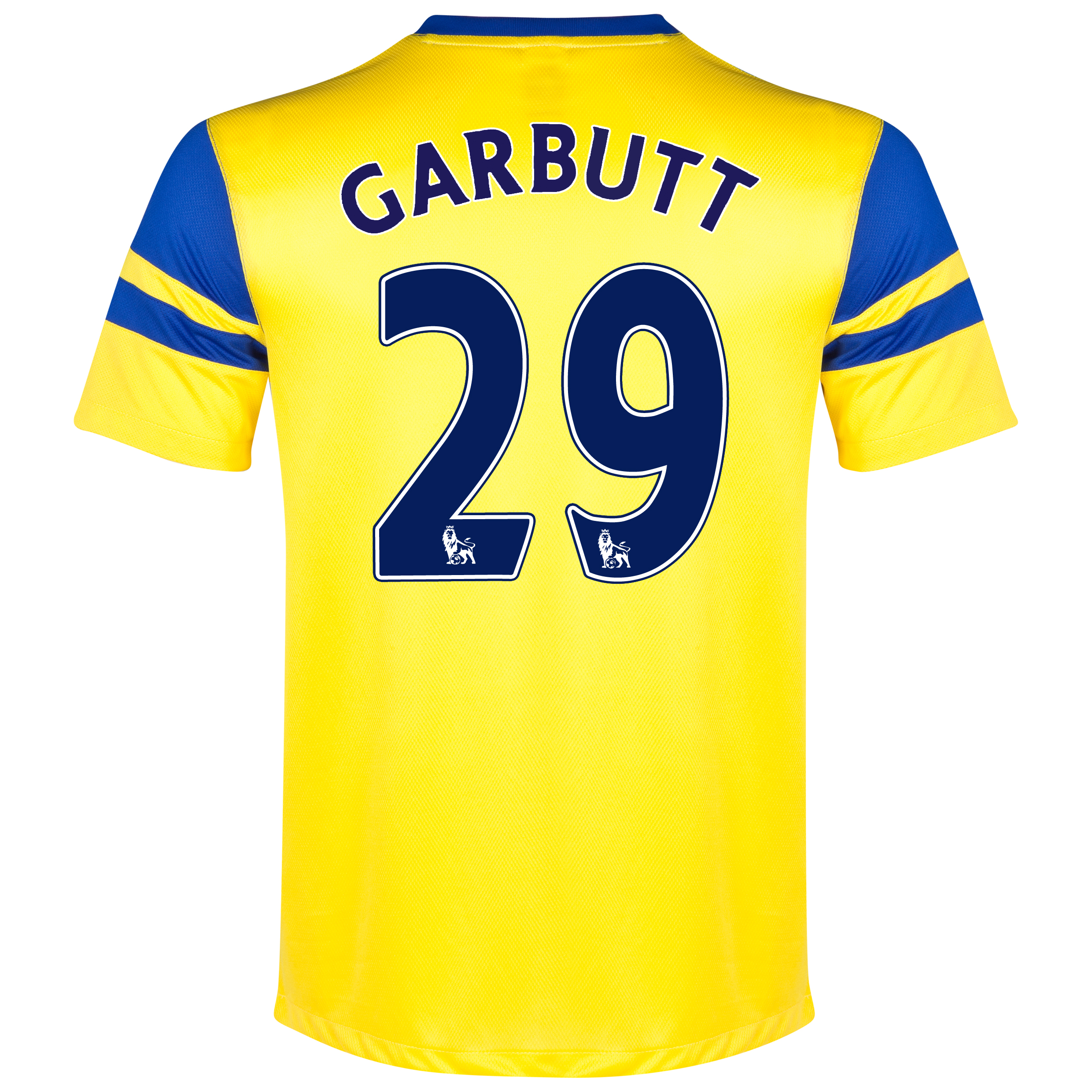 Everton Away Shirt 2013/14 Yellow with Garbutt 42 printing