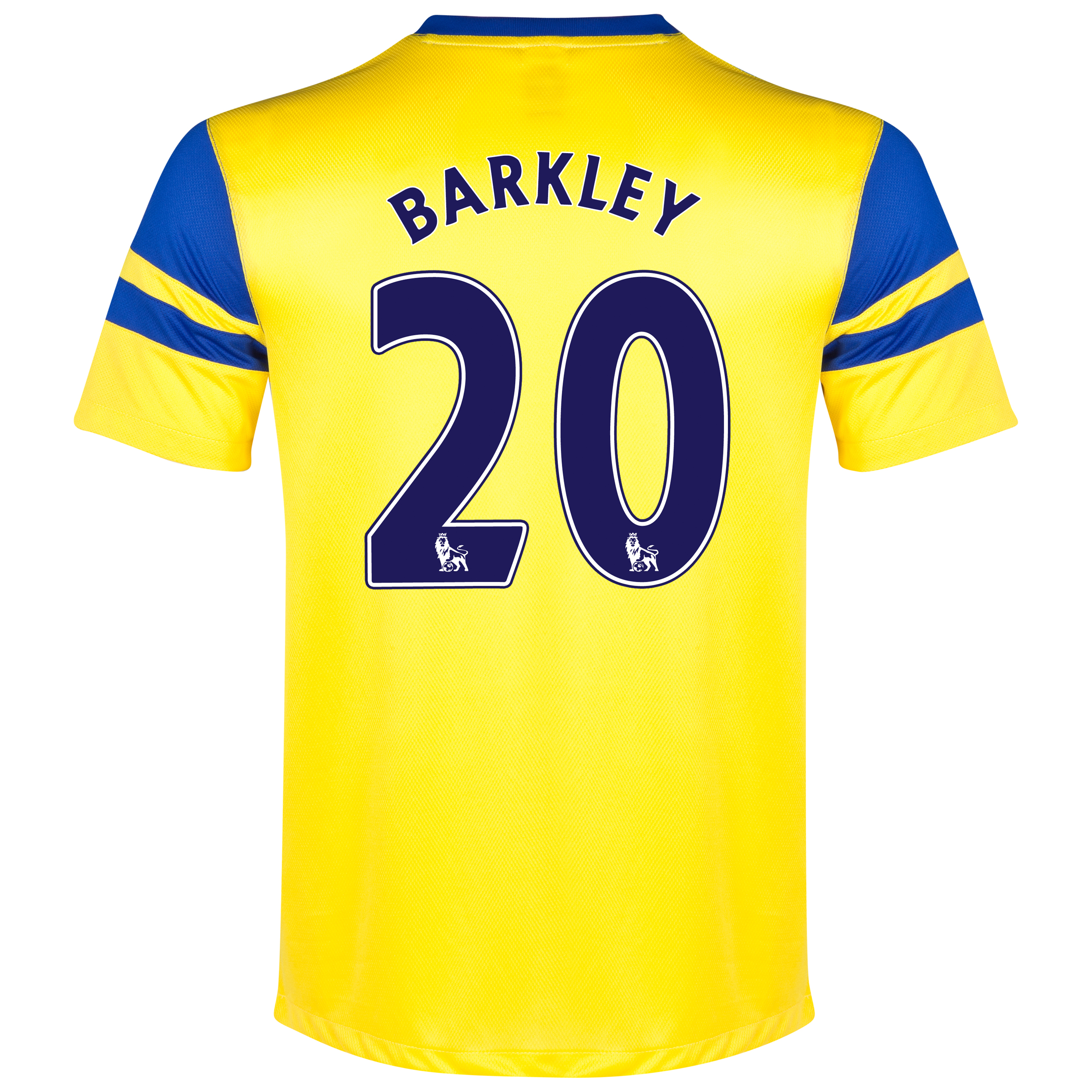 Everton Away Shirt 2013/14 - Junior Yellow with Barkley 20 printing