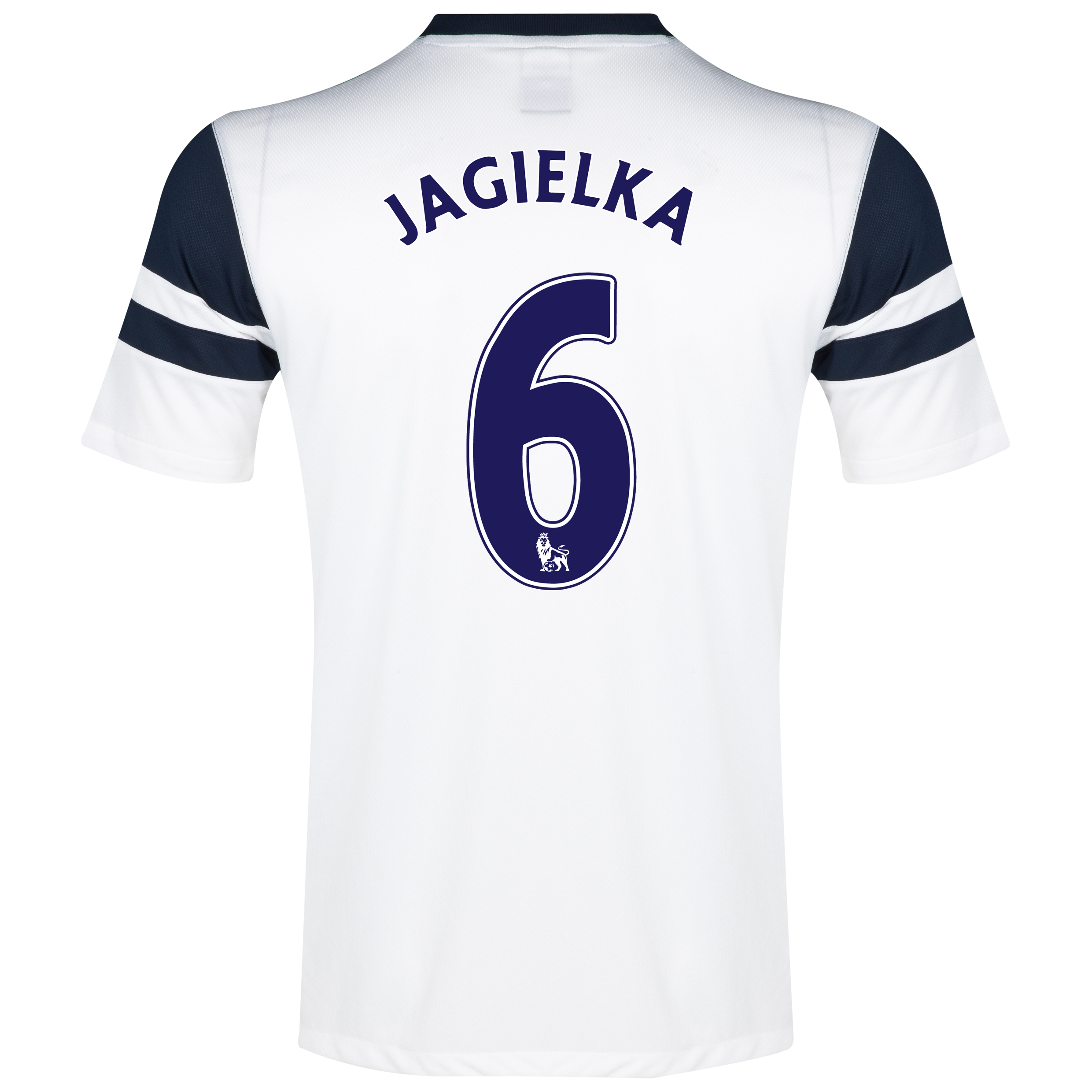 Everton 3rd Shirt 2013/14 White with Jagielka 6 printing
