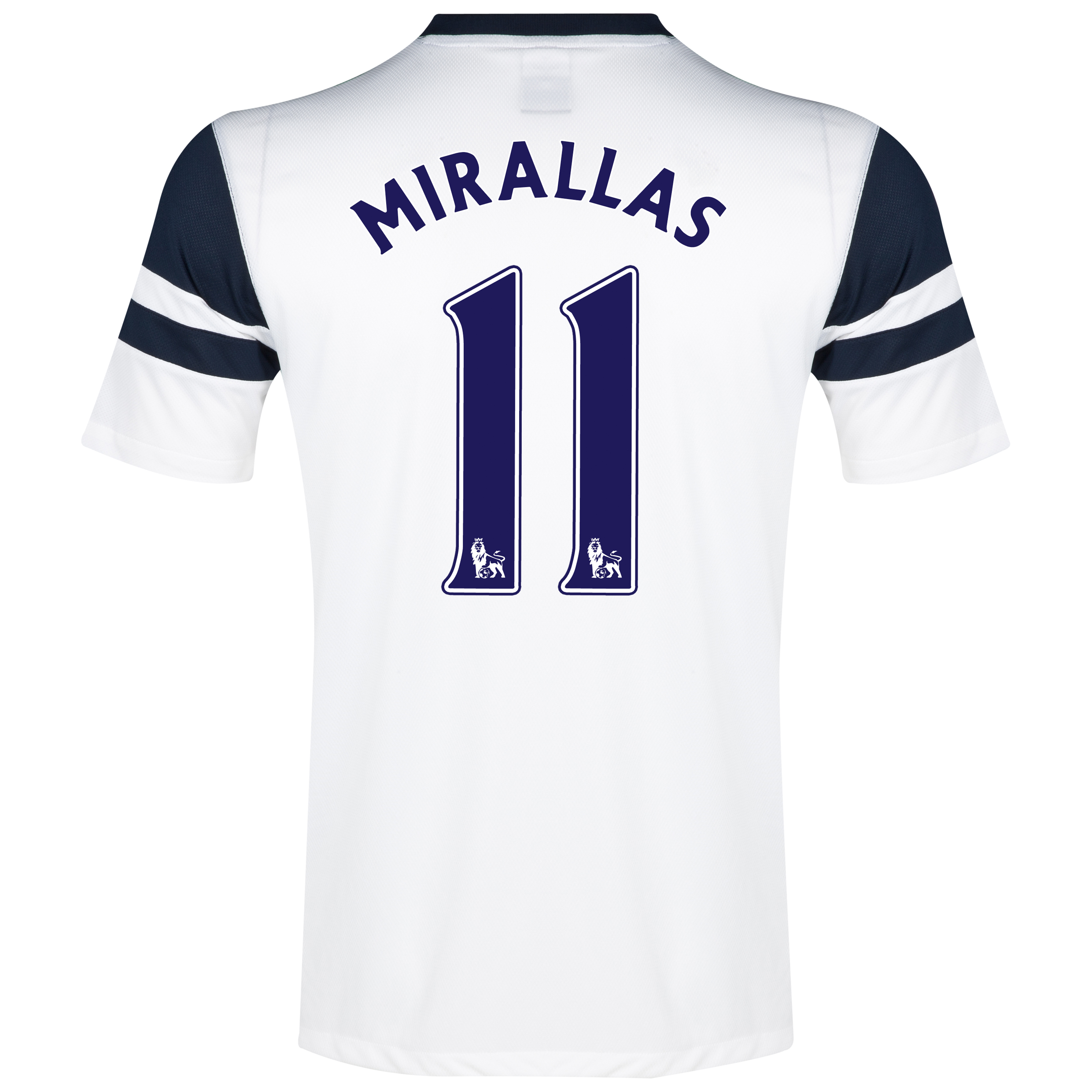 Everton 3rd Shirt 2013/14 White with Mirallas 11 printing