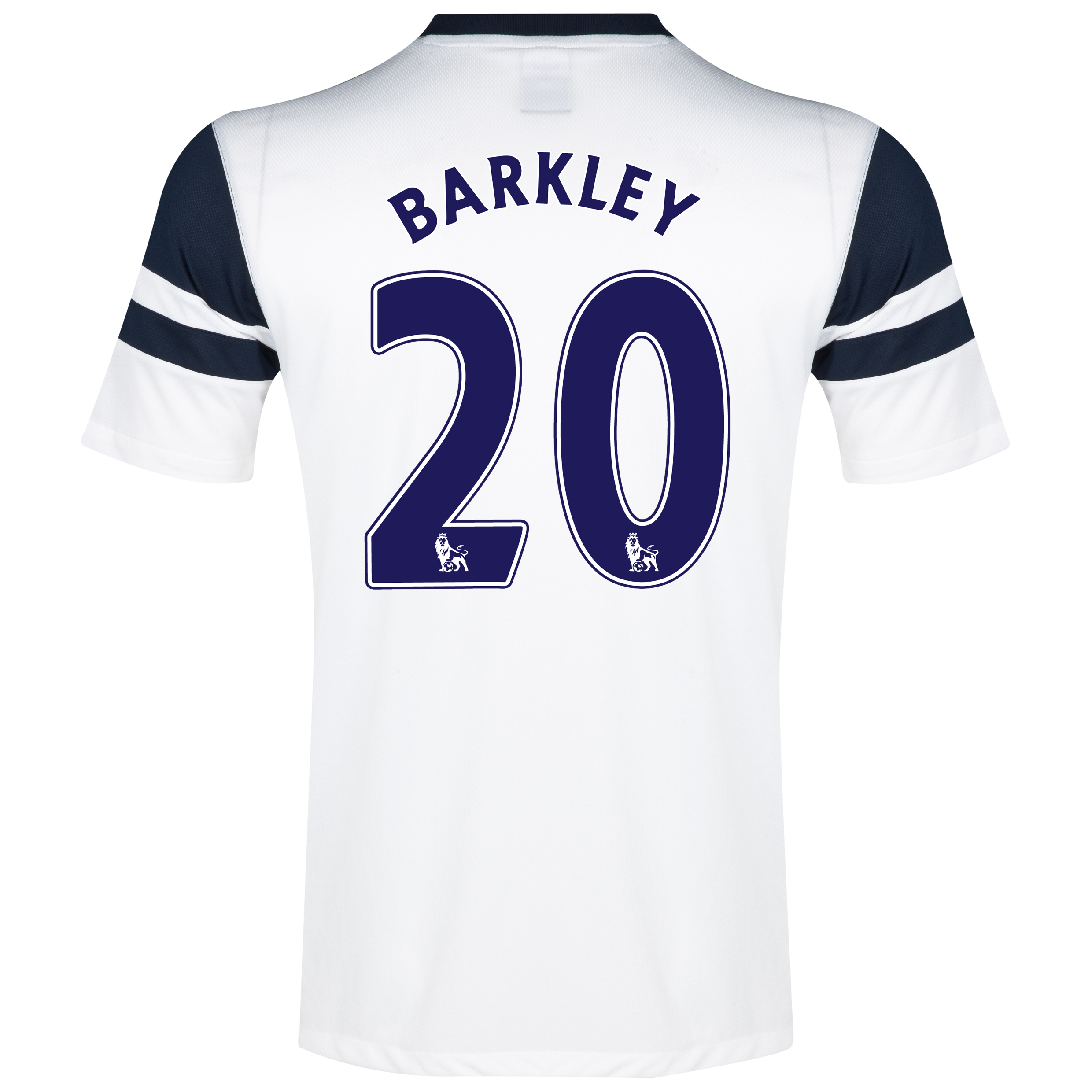 Everton 3rd Shirt 2013/14 White with Barkley 20 printing