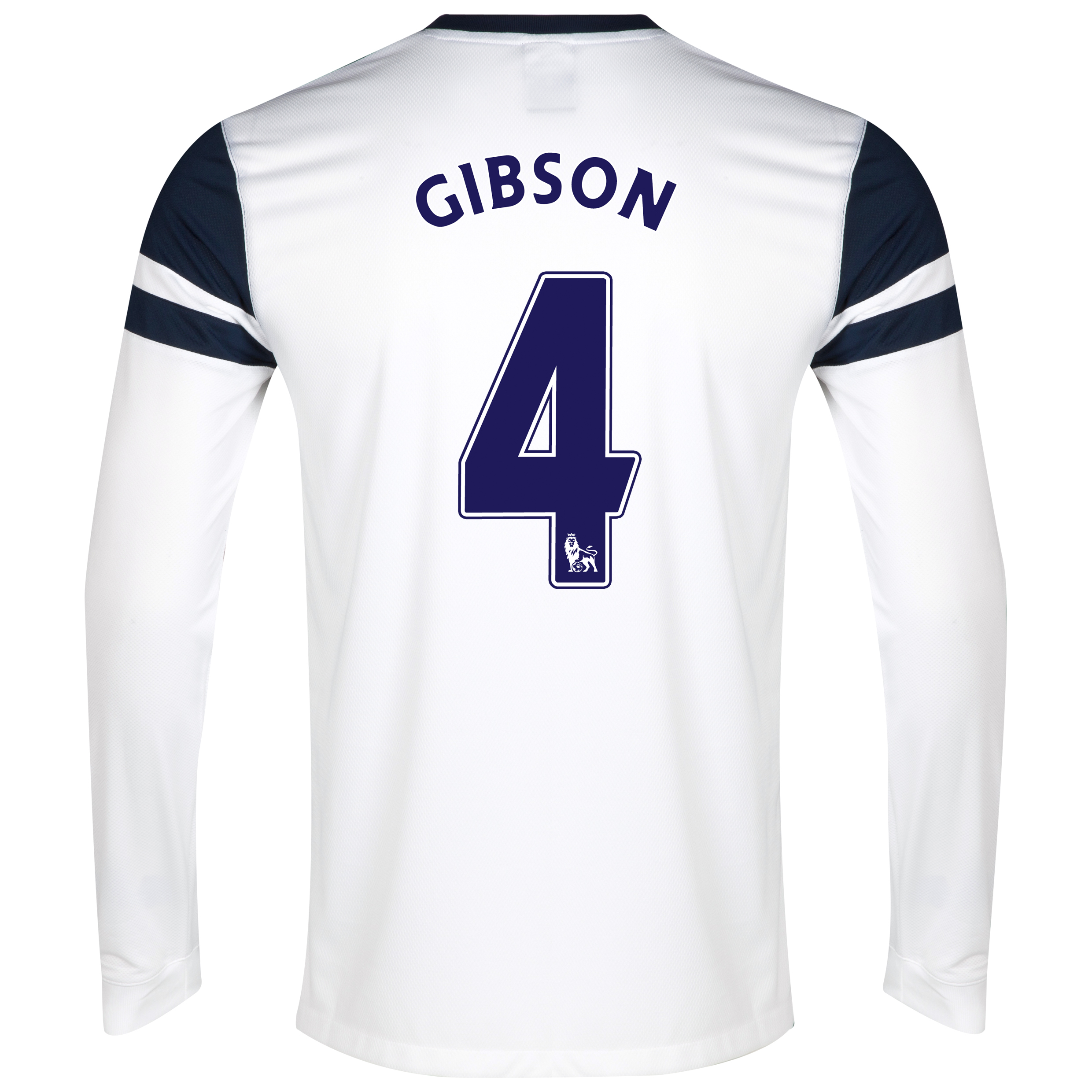 Everton 3rd Shirt 2013/14 - Long Sleeved White with Gibson 4 printing