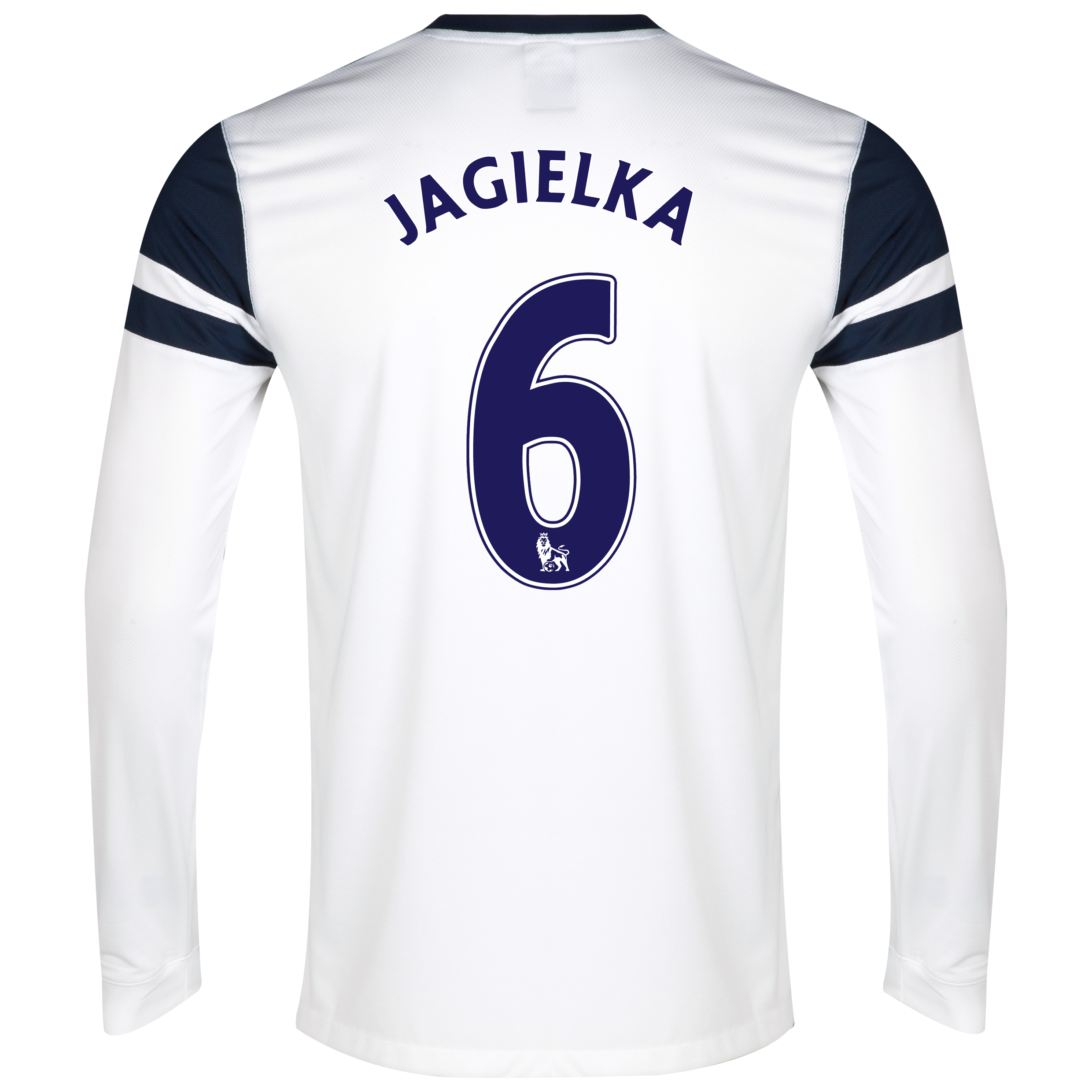 Everton 3rd Shirt 2013/14 - Long Sleeved White with Jagielka 6 printing