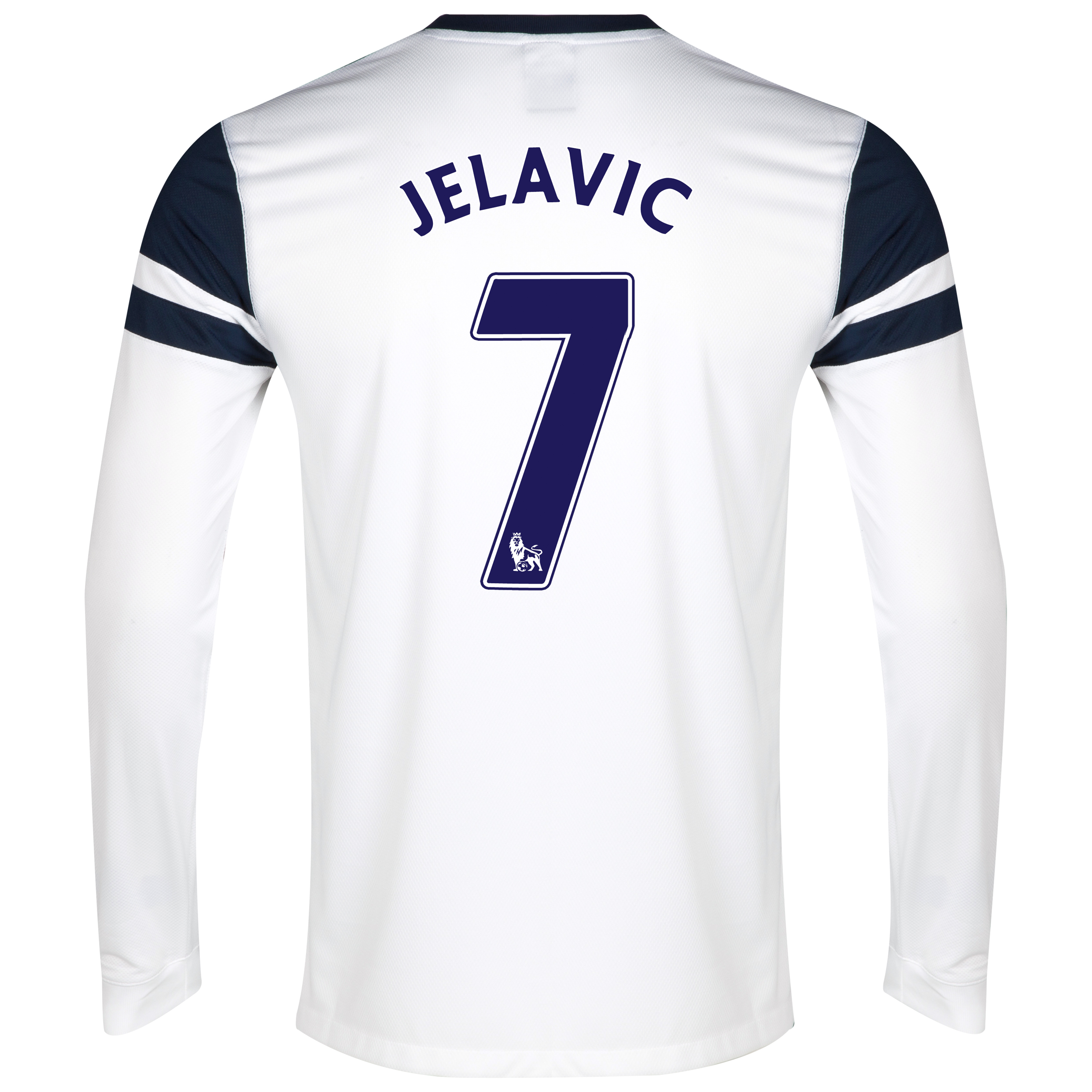 Everton 3rd Shirt 2013/14 - Long Sleeved White with Jelavic 7 printing