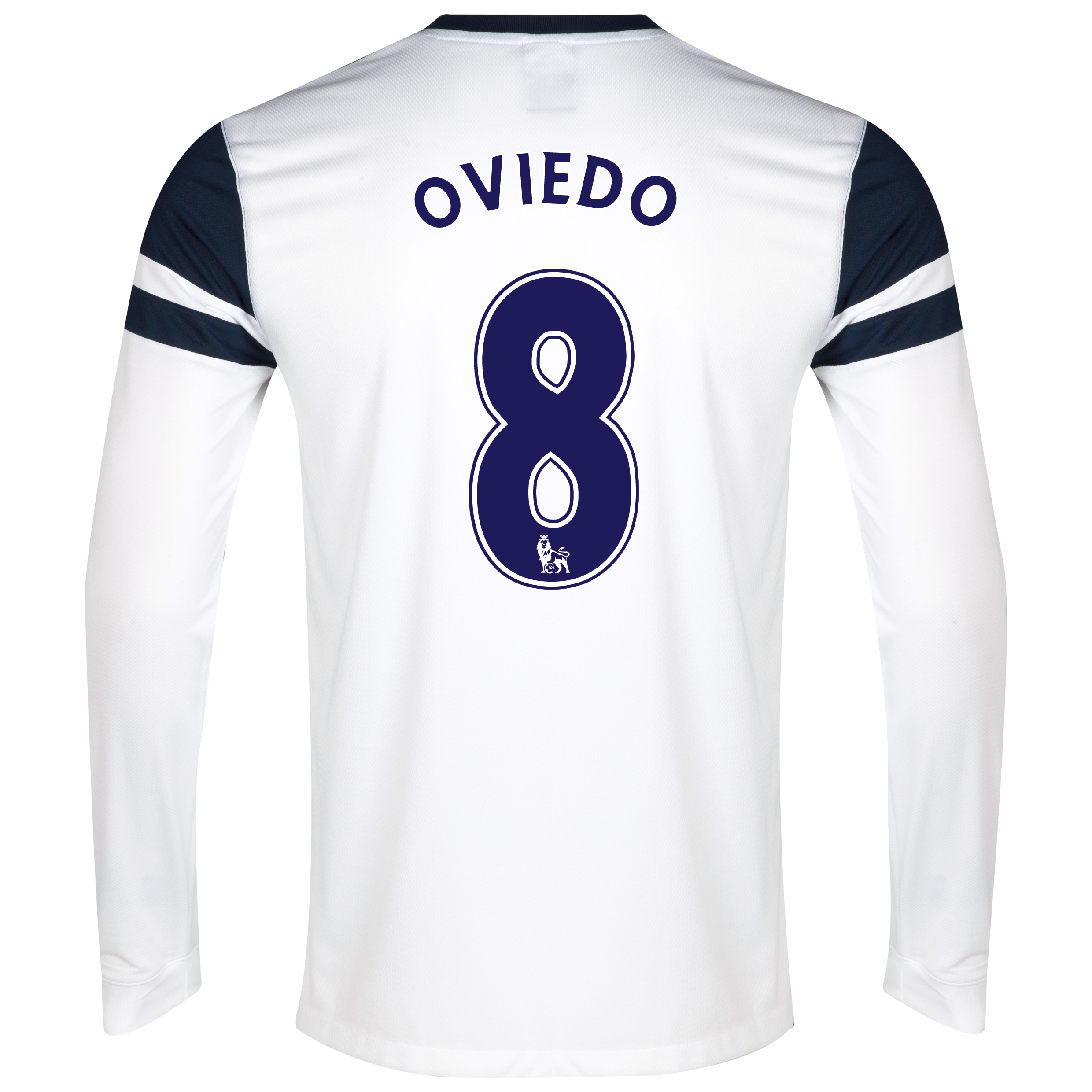 Everton 3rd Shirt 2013/14 - Long Sleeved White with Oviedo 8 printing