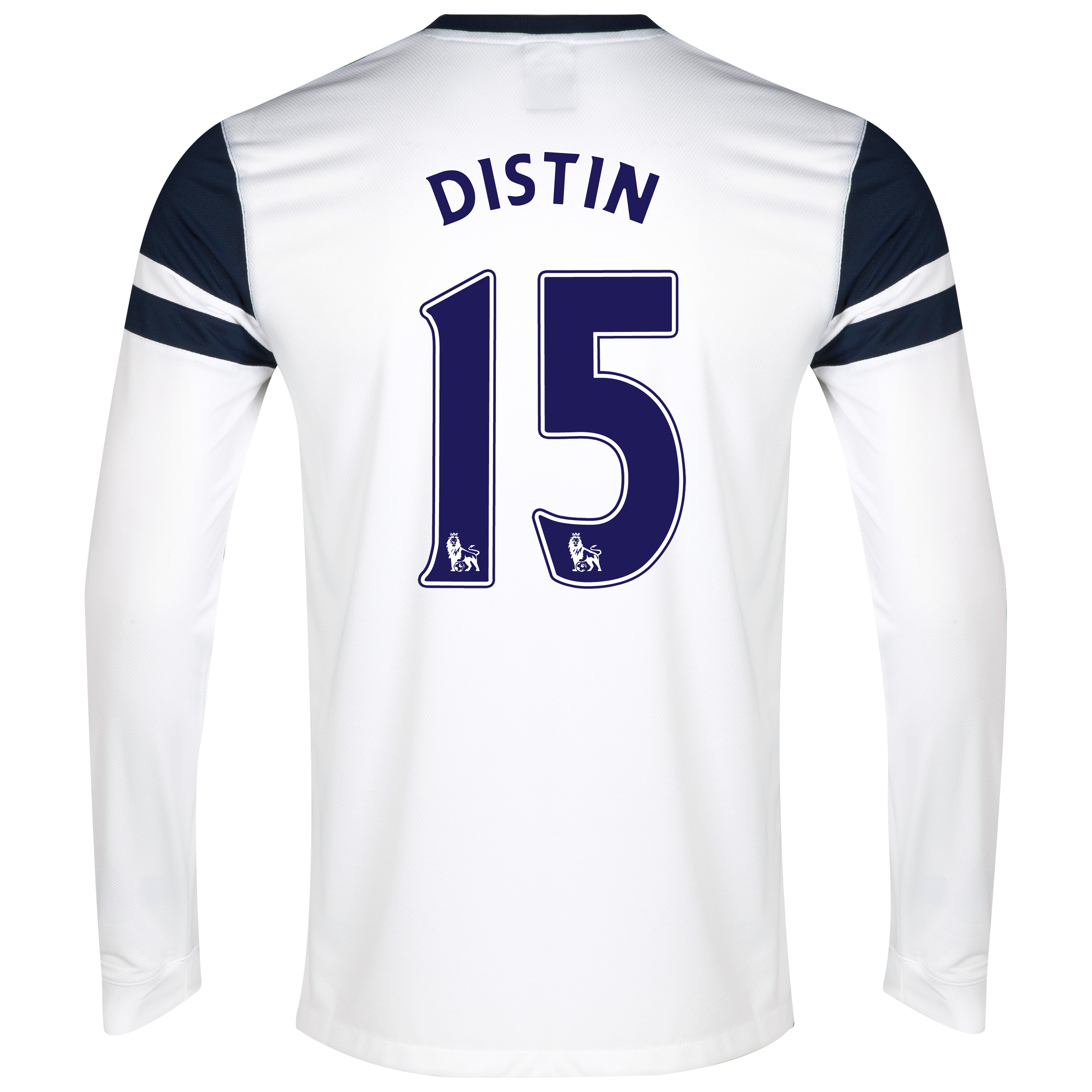 Everton 3rd Shirt 2013/14 - Long Sleeved White with Distin 15 printing