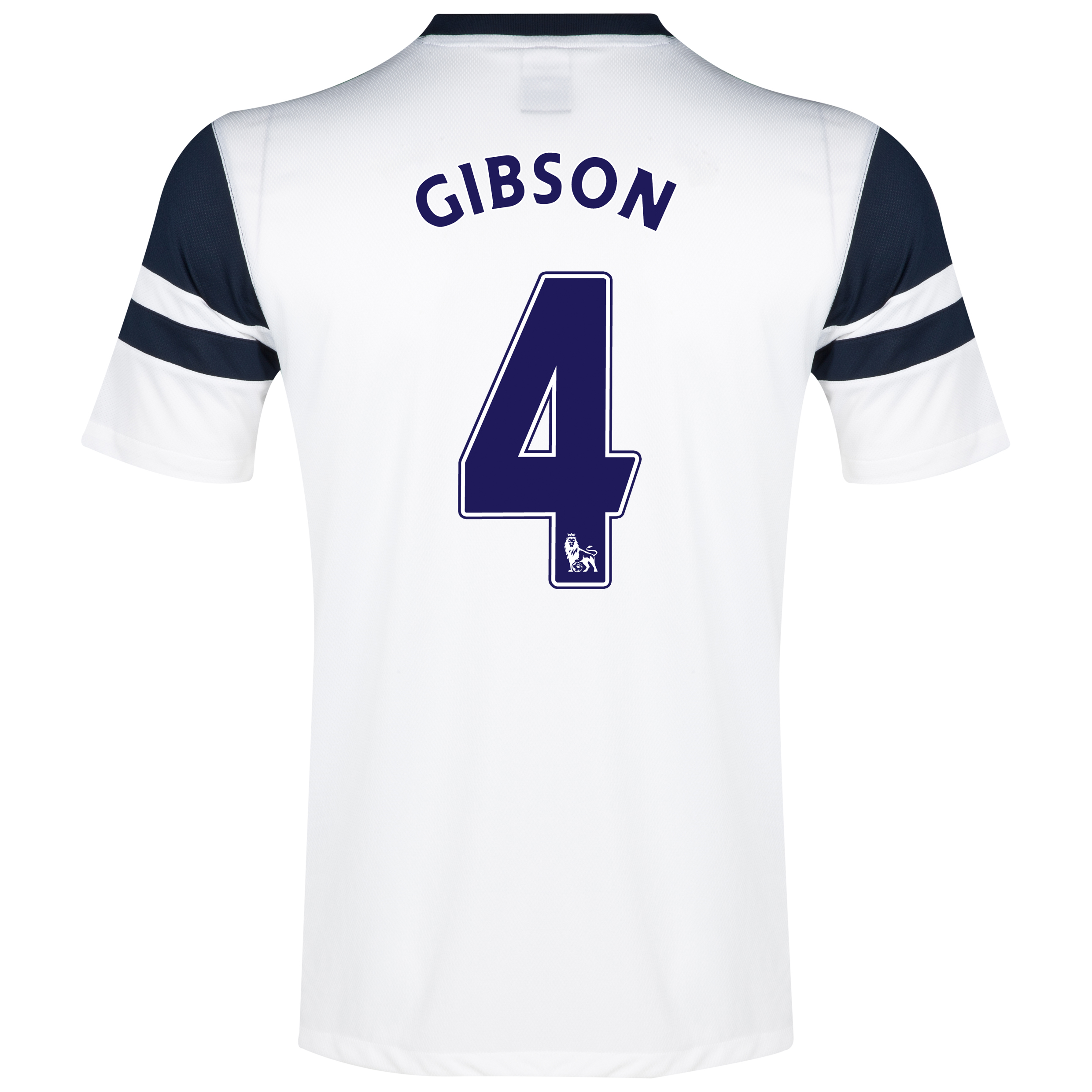 Everton 3rd Shirt 2013/14 - Junior White with Gibson 4 printing