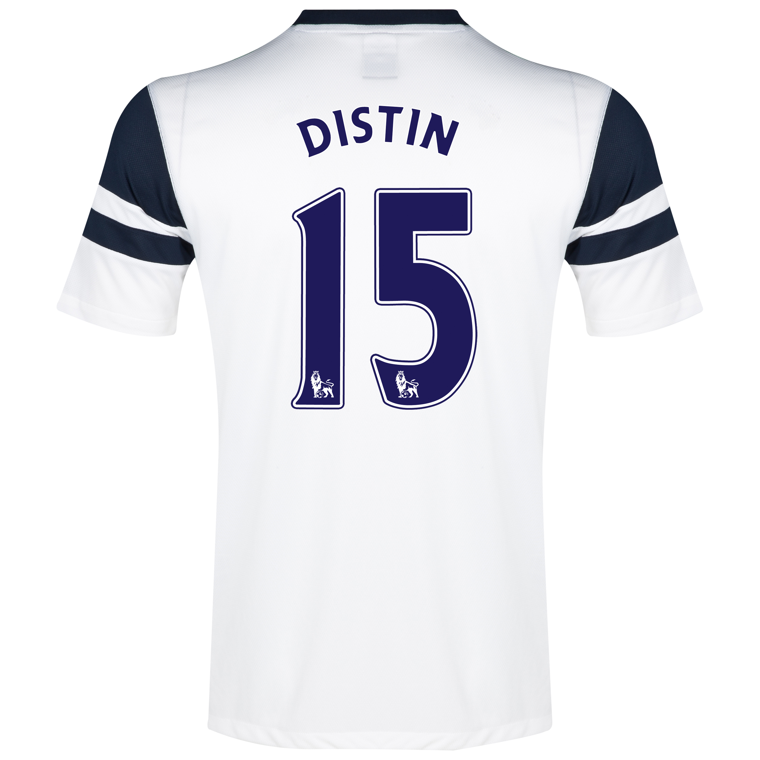 Everton 3rd Shirt 2013/14 - Junior White with Distin 15 printing