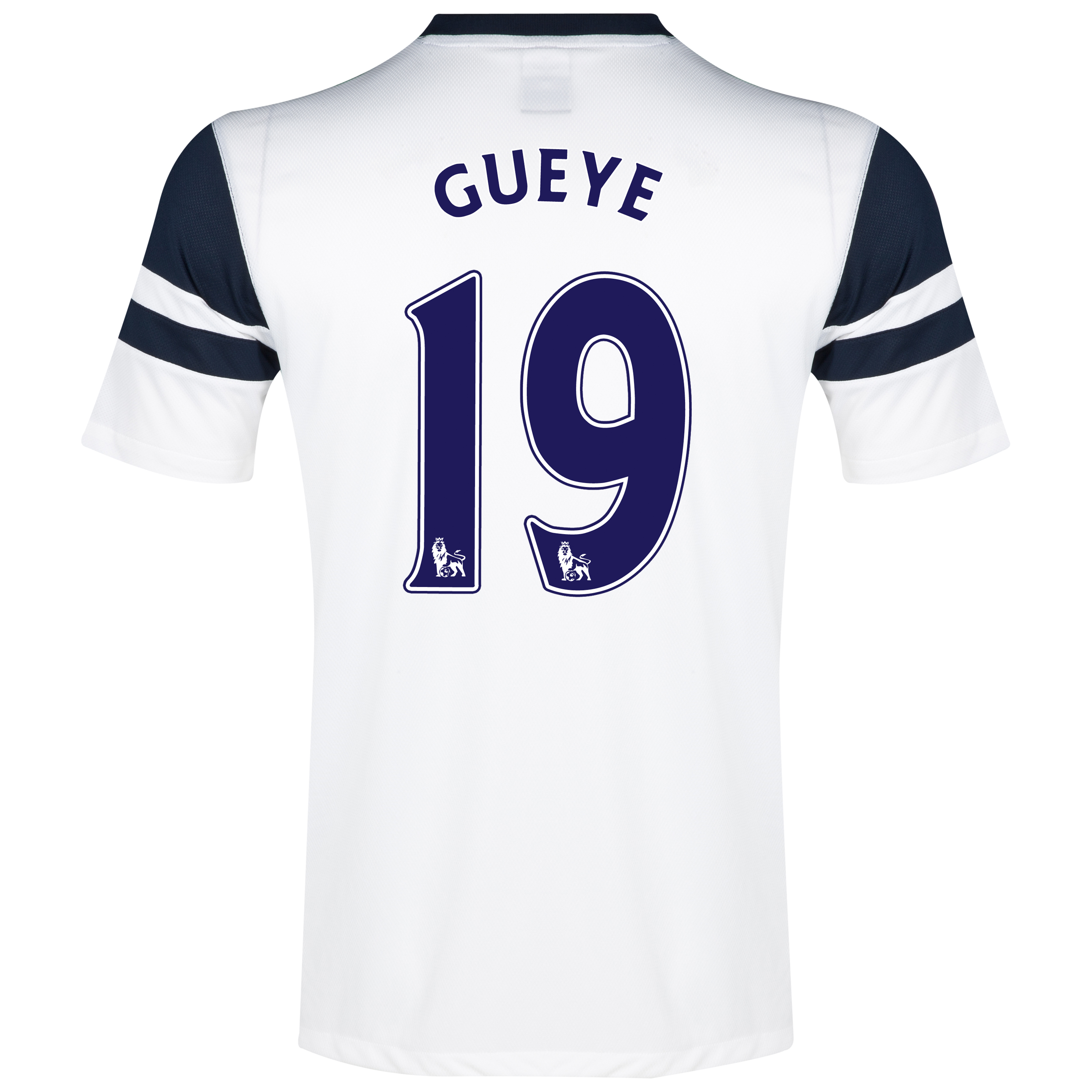 Everton 3rd Shirt 2013/14 - Junior White with Gueye 19 printing