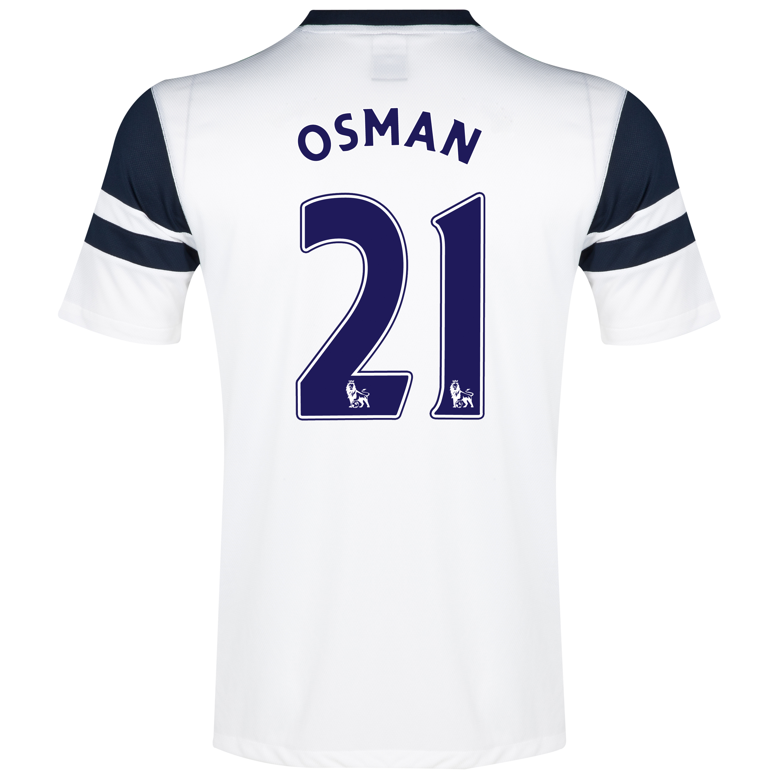 Everton 3rd Shirt 2013/14 - Junior White with Osman 21 printing