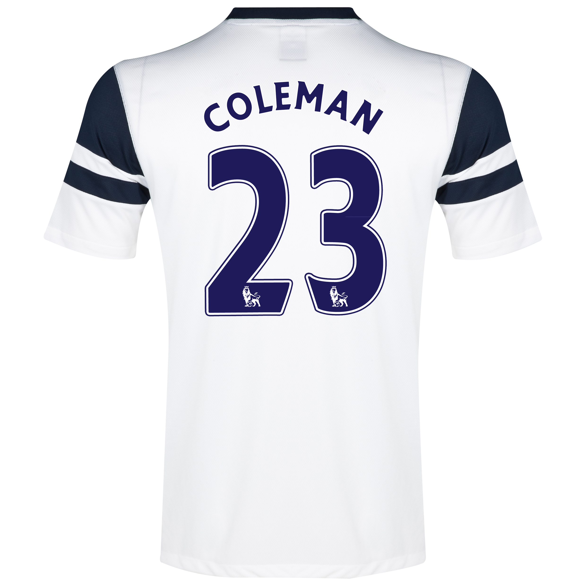 Everton 3rd Shirt 2013/14 - Junior White with Coleman 23 printing