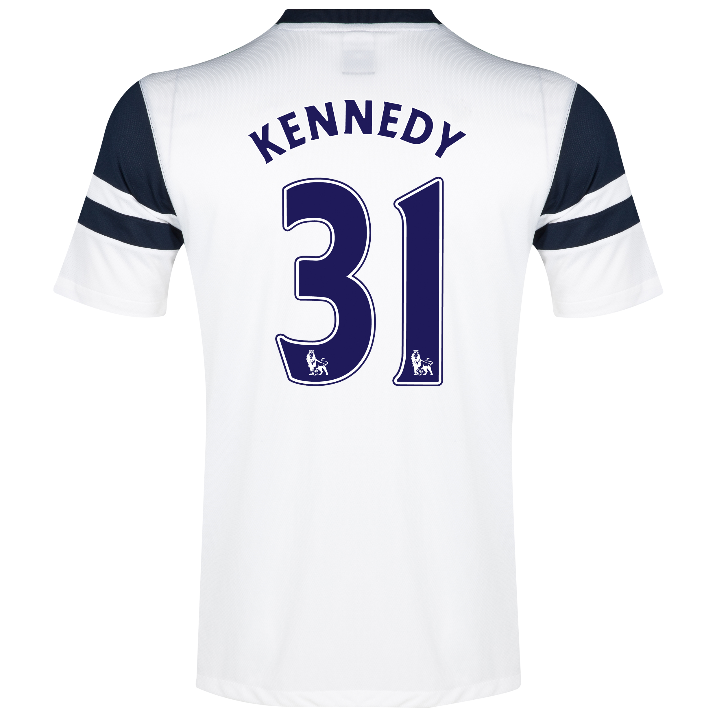Everton 3rd Shirt 2013/14 - Junior White with Kennedy 31 printing