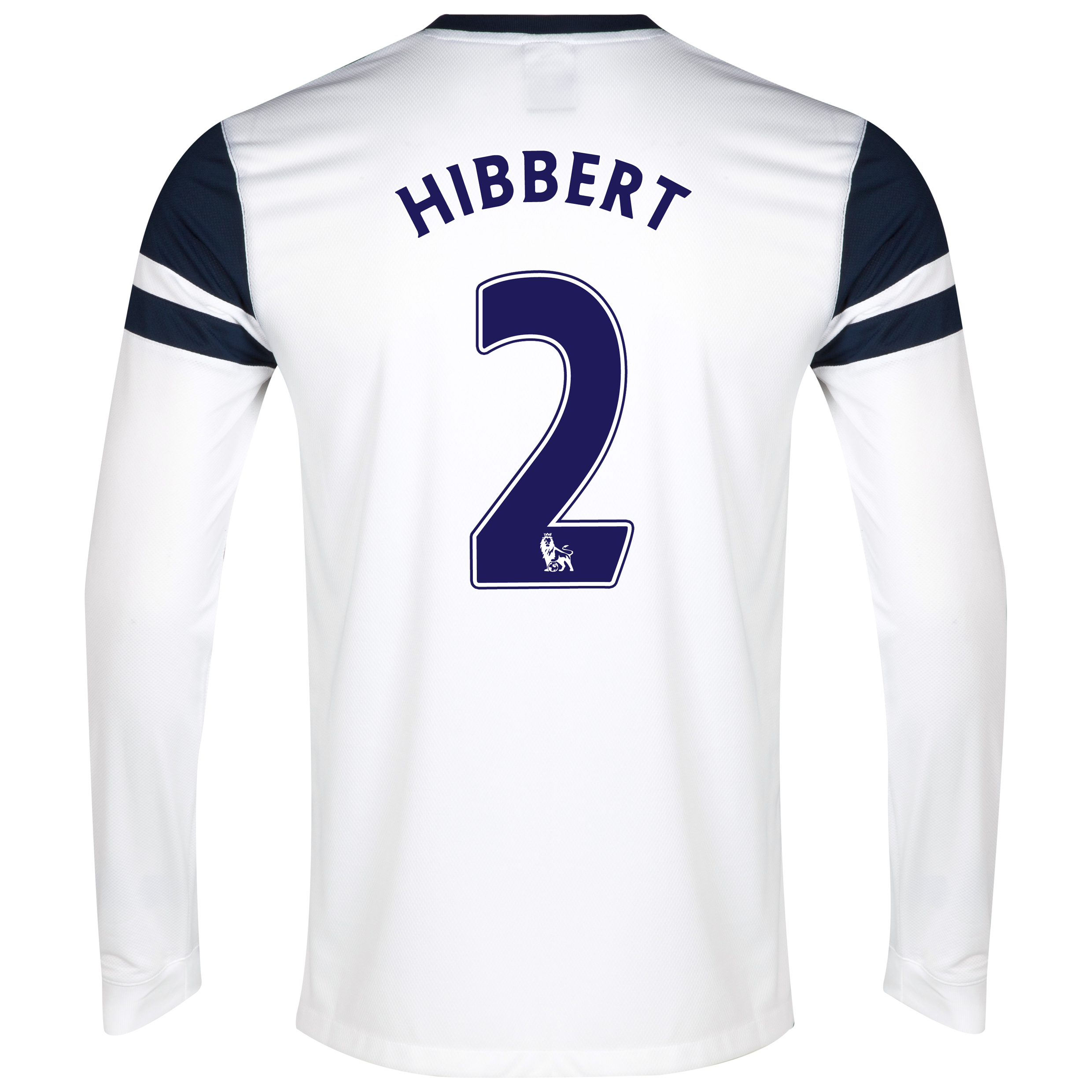Everton 3rd Shirt 2013/14 - Junior - Long Sleeved White with Hibbert 2 printing