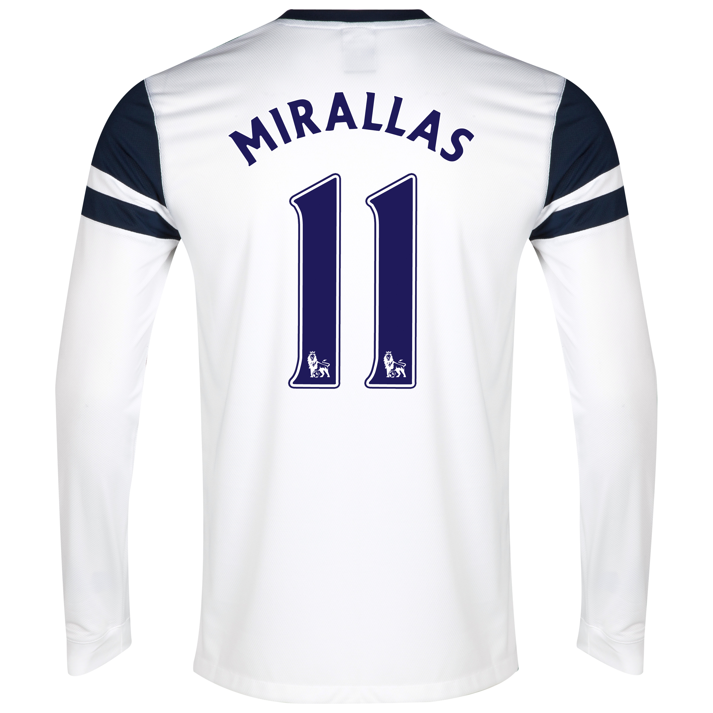 Everton 3rd Shirt 2013/14 - Junior - Long Sleeved White with Mirallas 11 printing