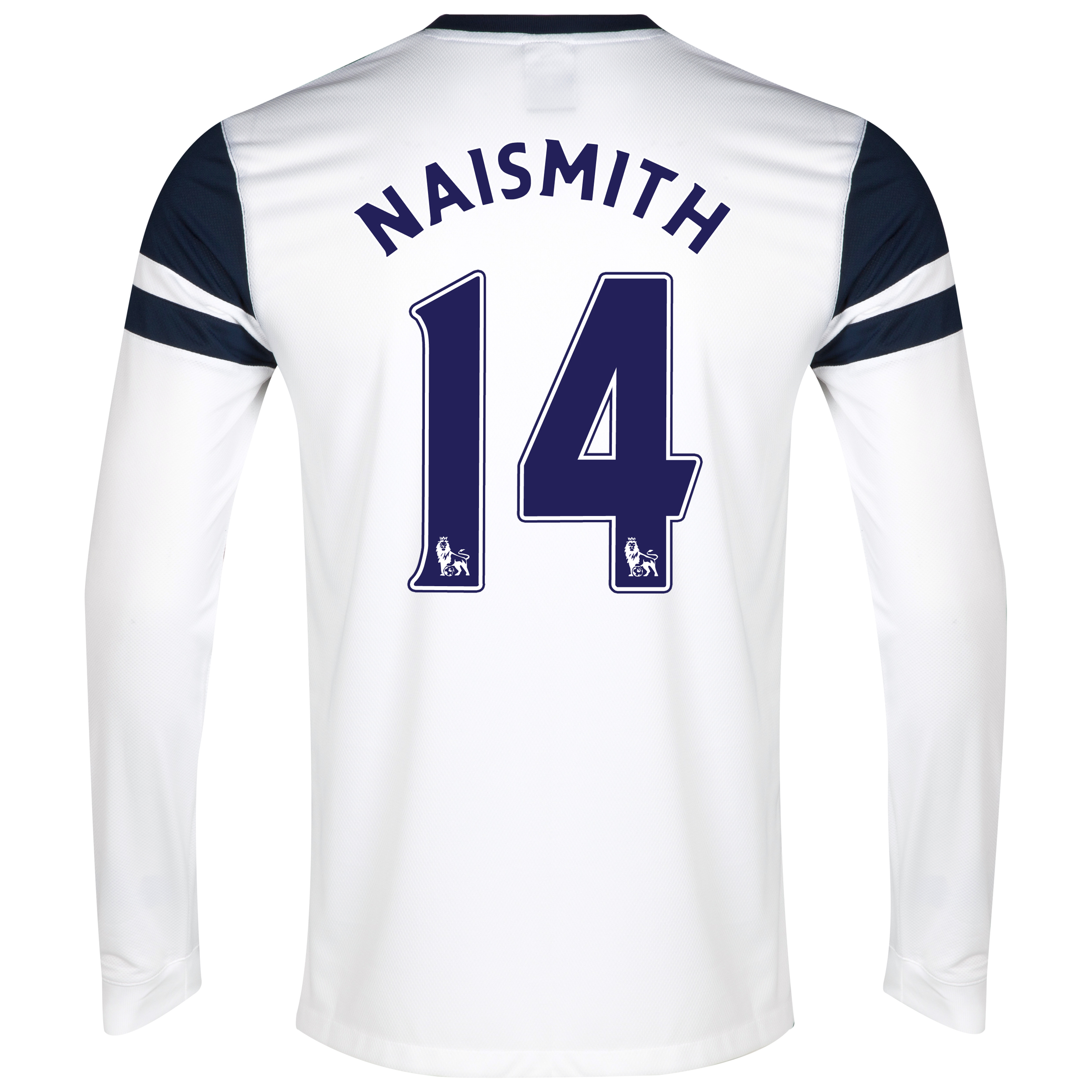 Everton 3rd Shirt 2013/14 - Junior - Long Sleeved White with Naismith 14 printing