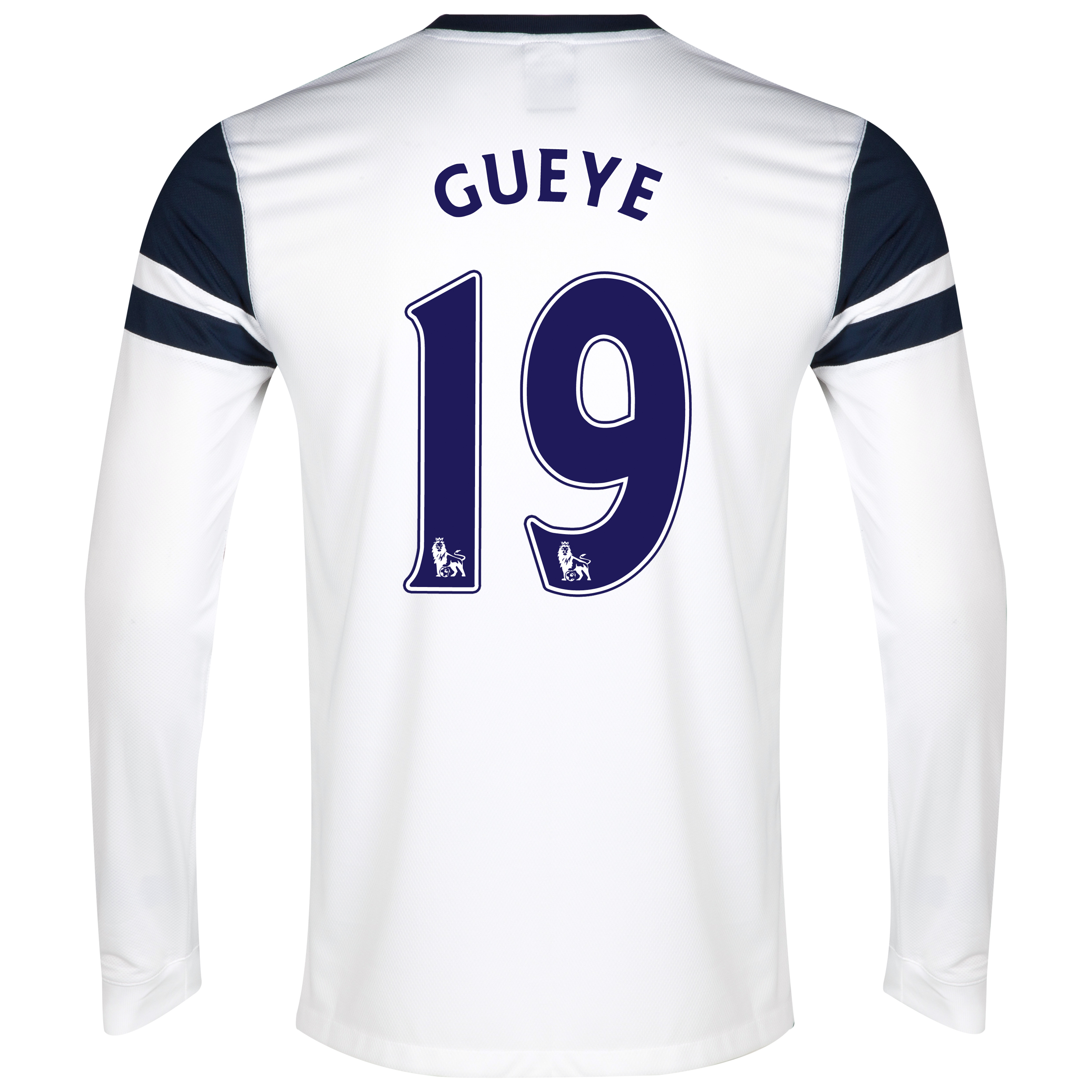 Everton 3rd Shirt 2013/14 - Junior - Long Sleeved White with Gueye 19 printing