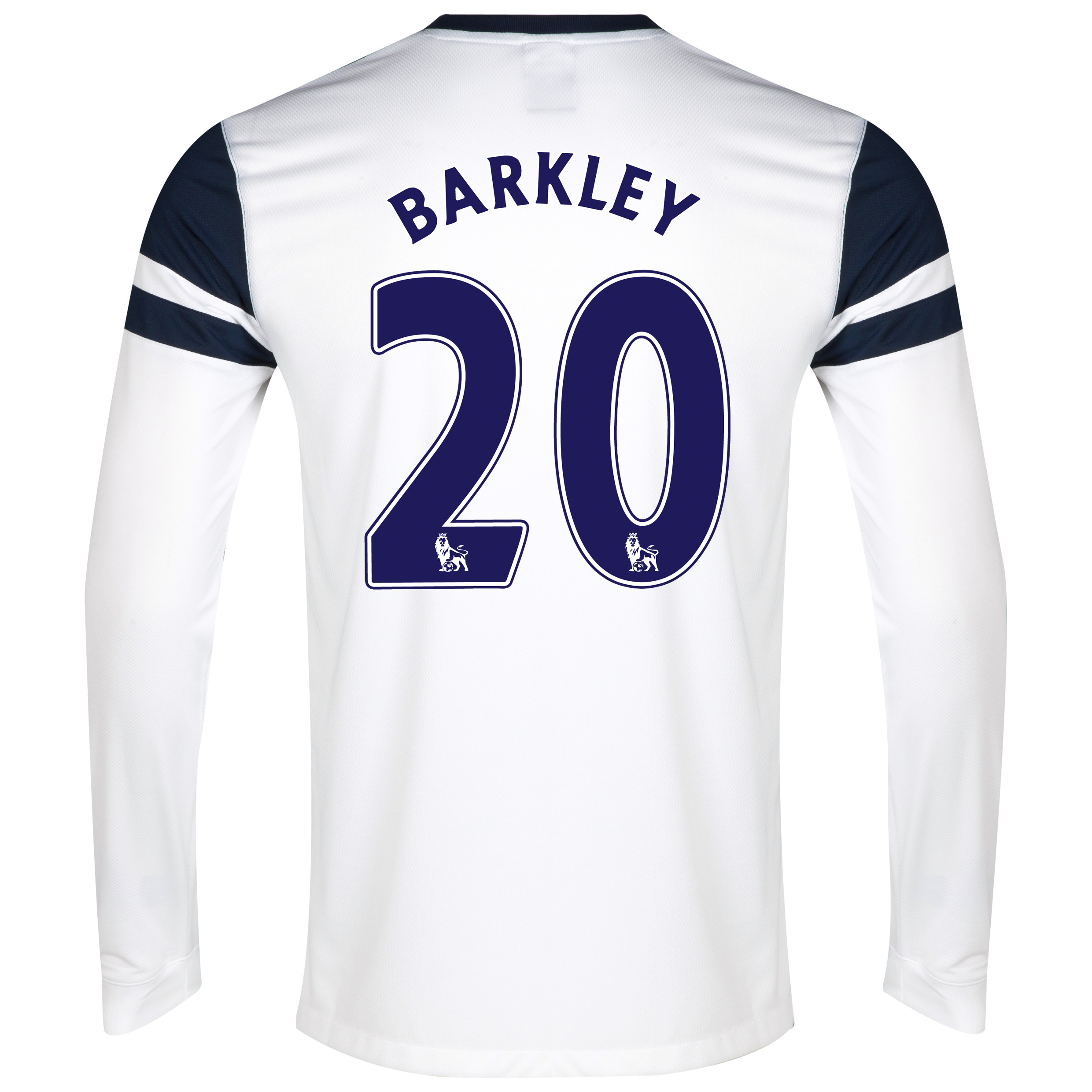 Everton 3rd Shirt 2013/14 - Junior - Long Sleeved White with Barkley 20 printing