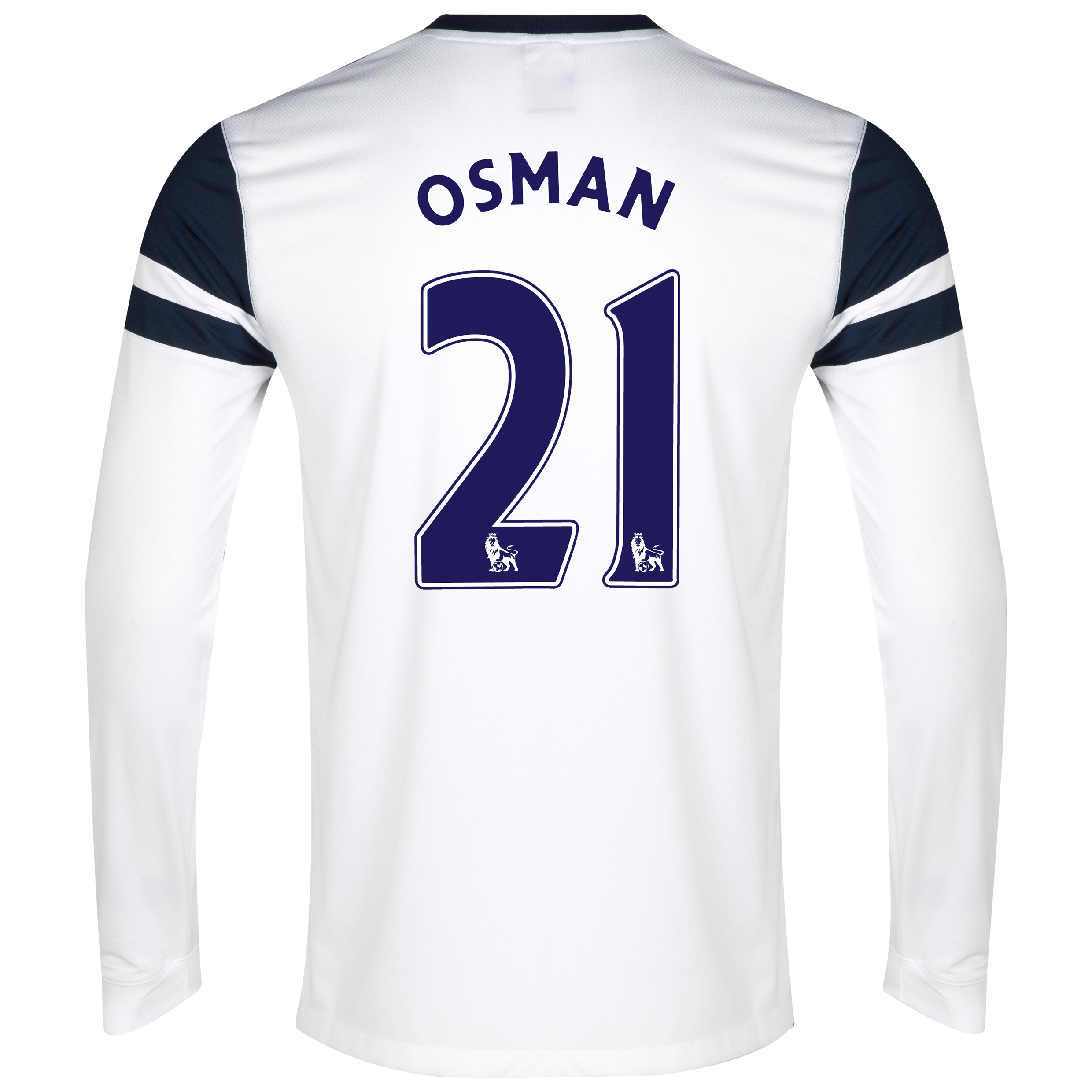 Everton 3rd Shirt 2013/14 - Junior - Long Sleeved White with Osman 21 printing