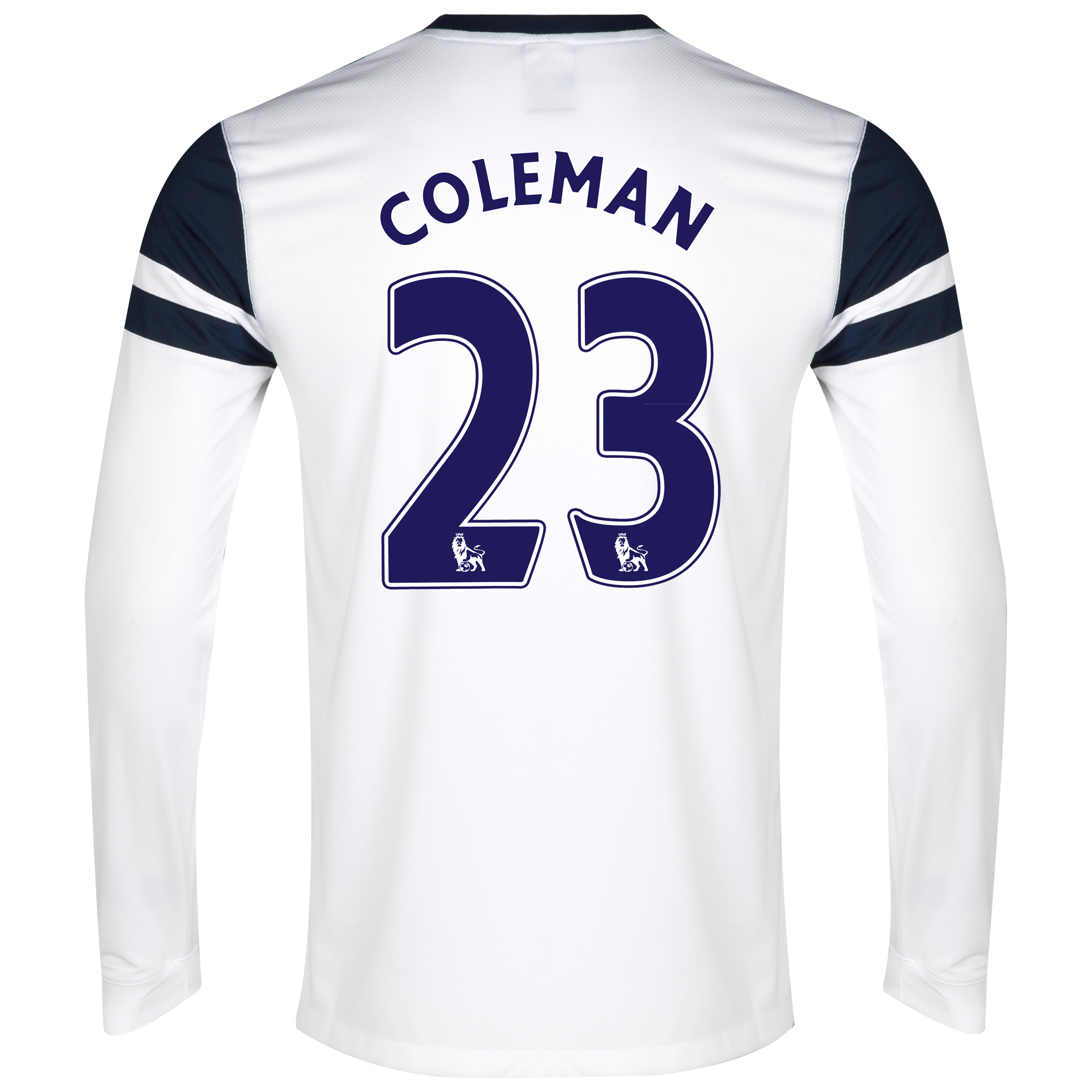 Everton 3rd Shirt 2013/14 - Junior - Long Sleeved White with Coleman 23 printing