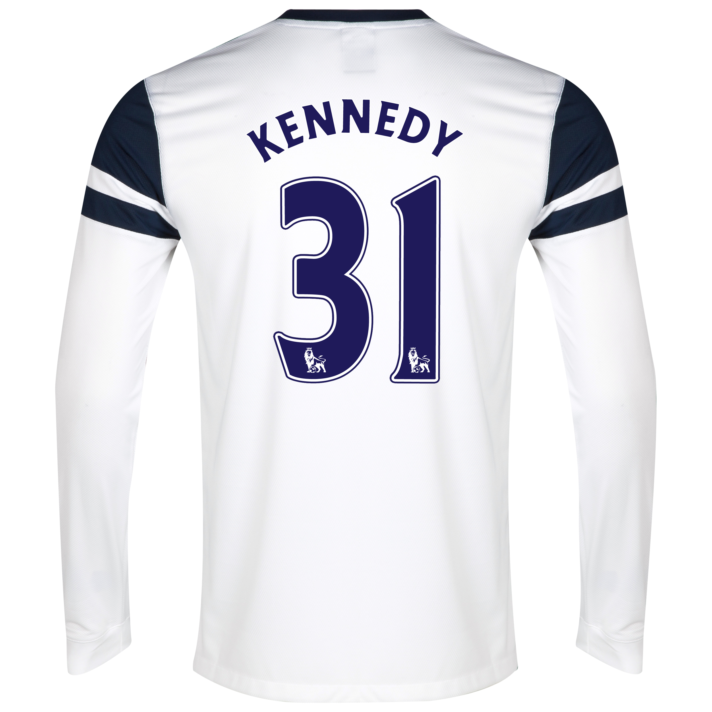 Everton 3rd Shirt 2013/14 - Junior - Long Sleeved White with Kennedy 31 printing