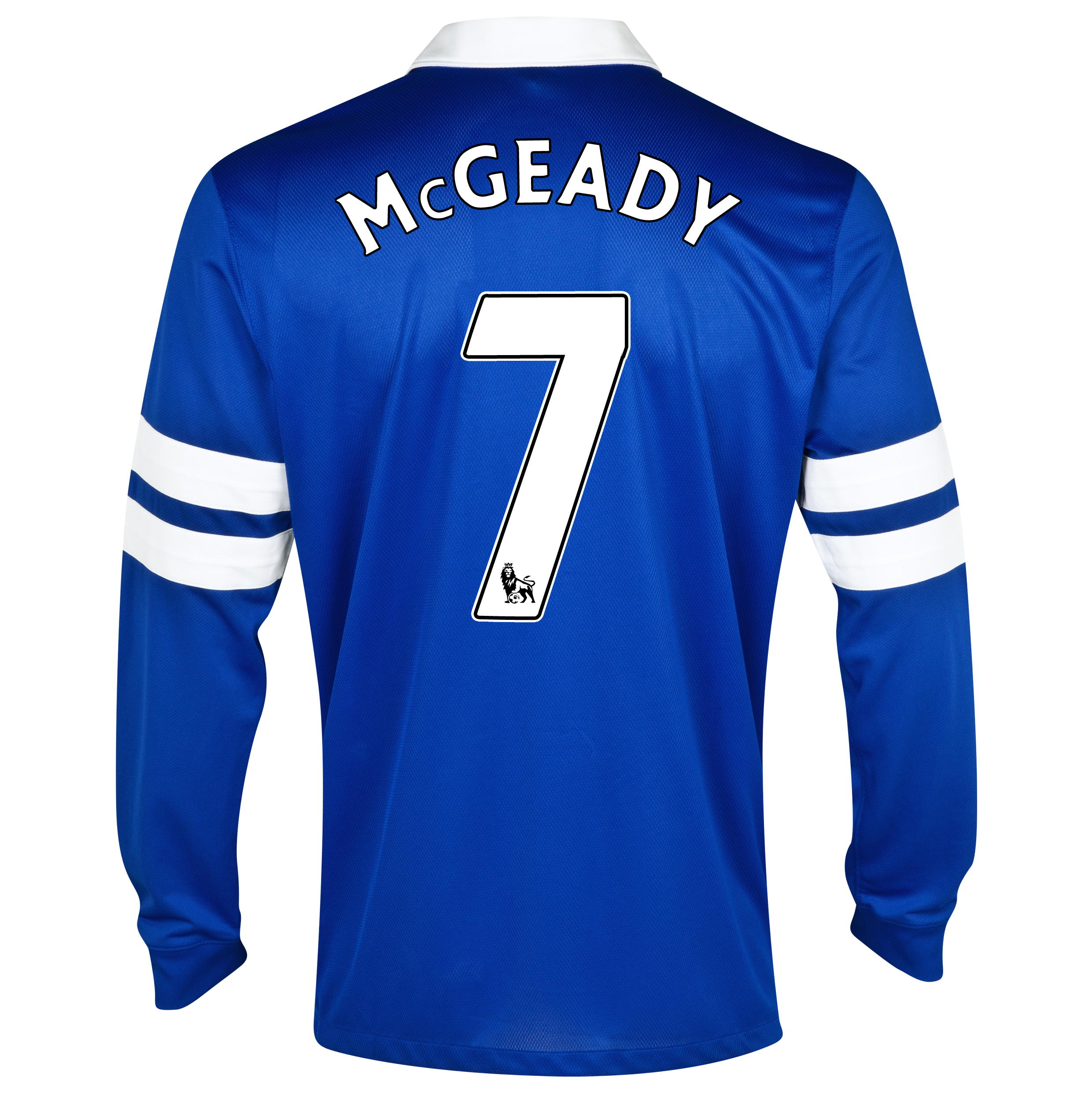 Everton Home Shirt 2013/14 - Junior - Long Sleeved Blue with McGeady 7 printing