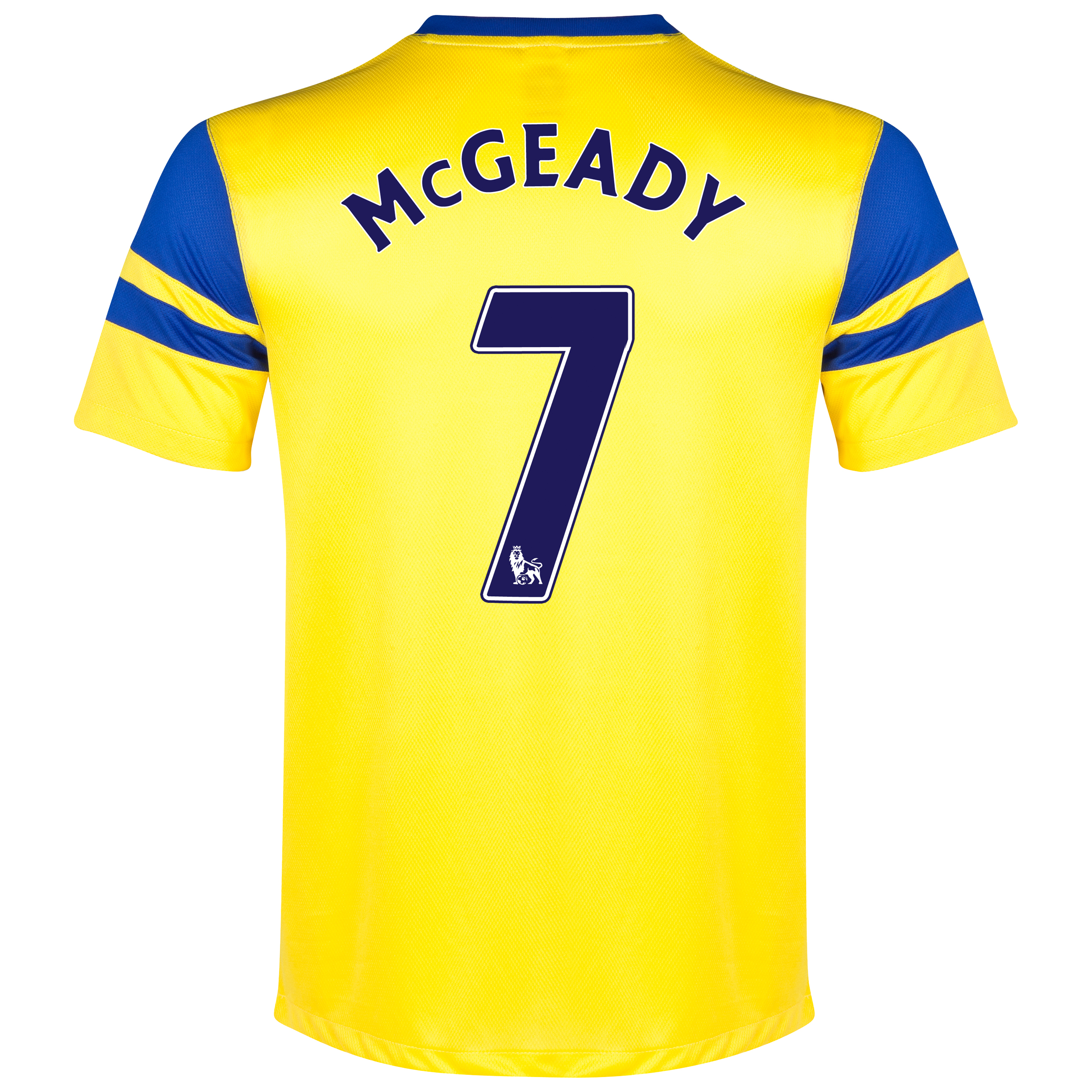 Everton Away Shirt 2013/14 - Junior Yellow with McGeady 7 printing