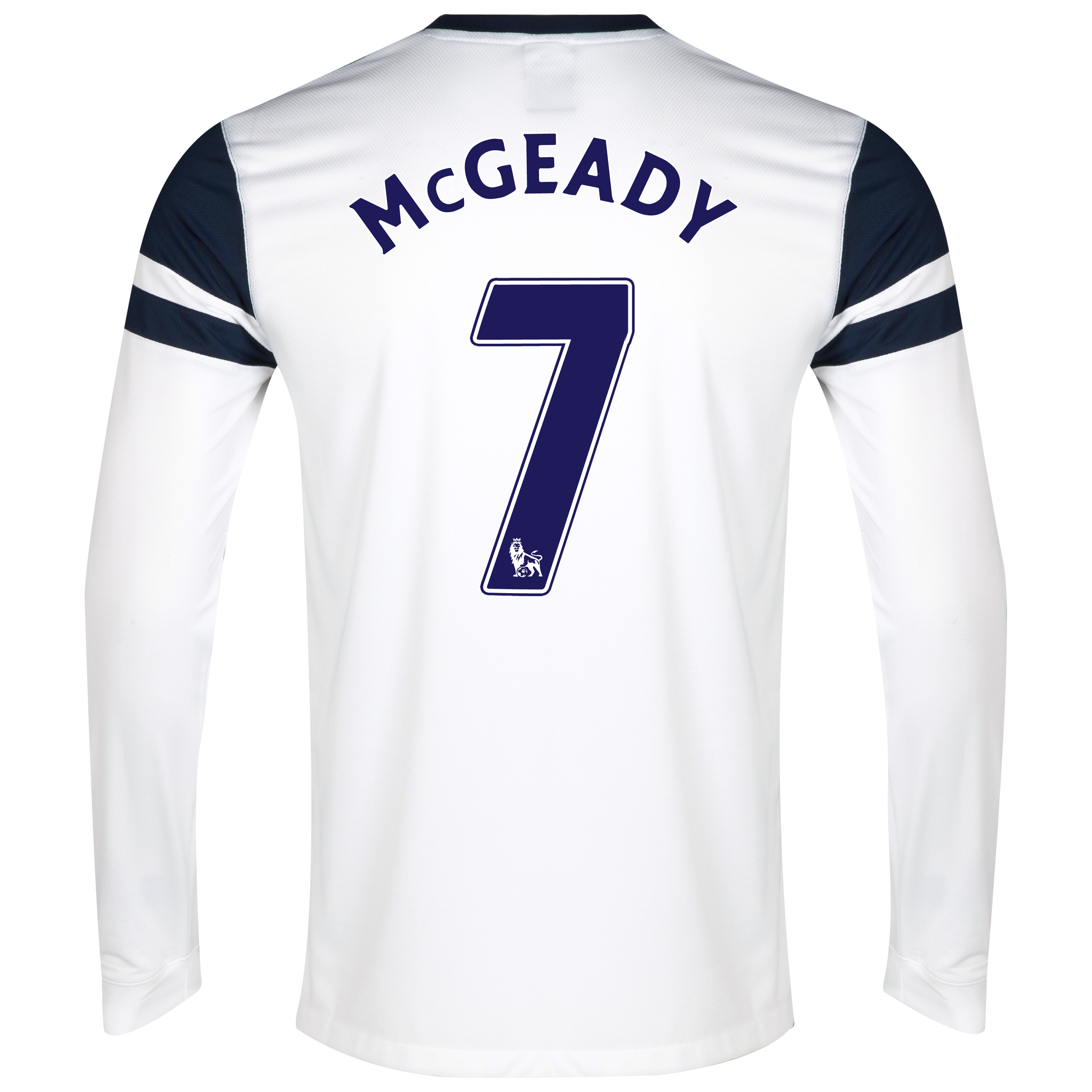 Everton 3rd Shirt 2013/14 - Long Sleeved White with McGeady 7 printing