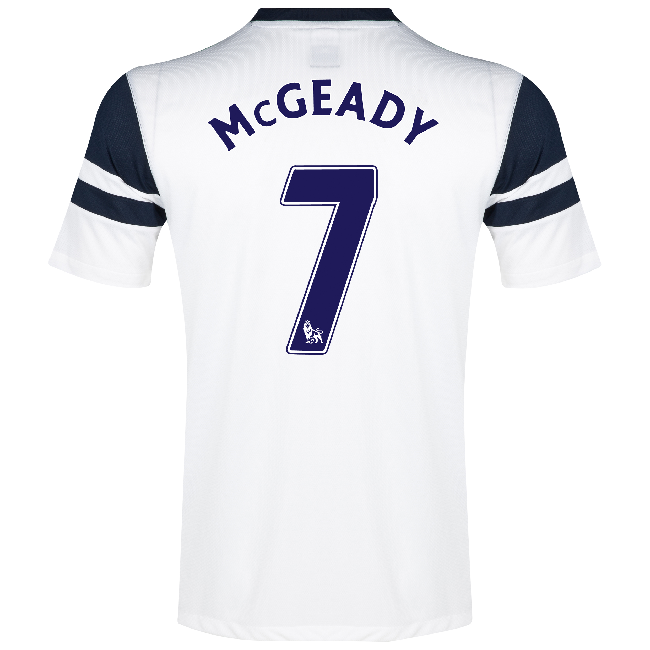 Everton 3rd Shirt 2013/14 - Junior White with McGeady 7 printing