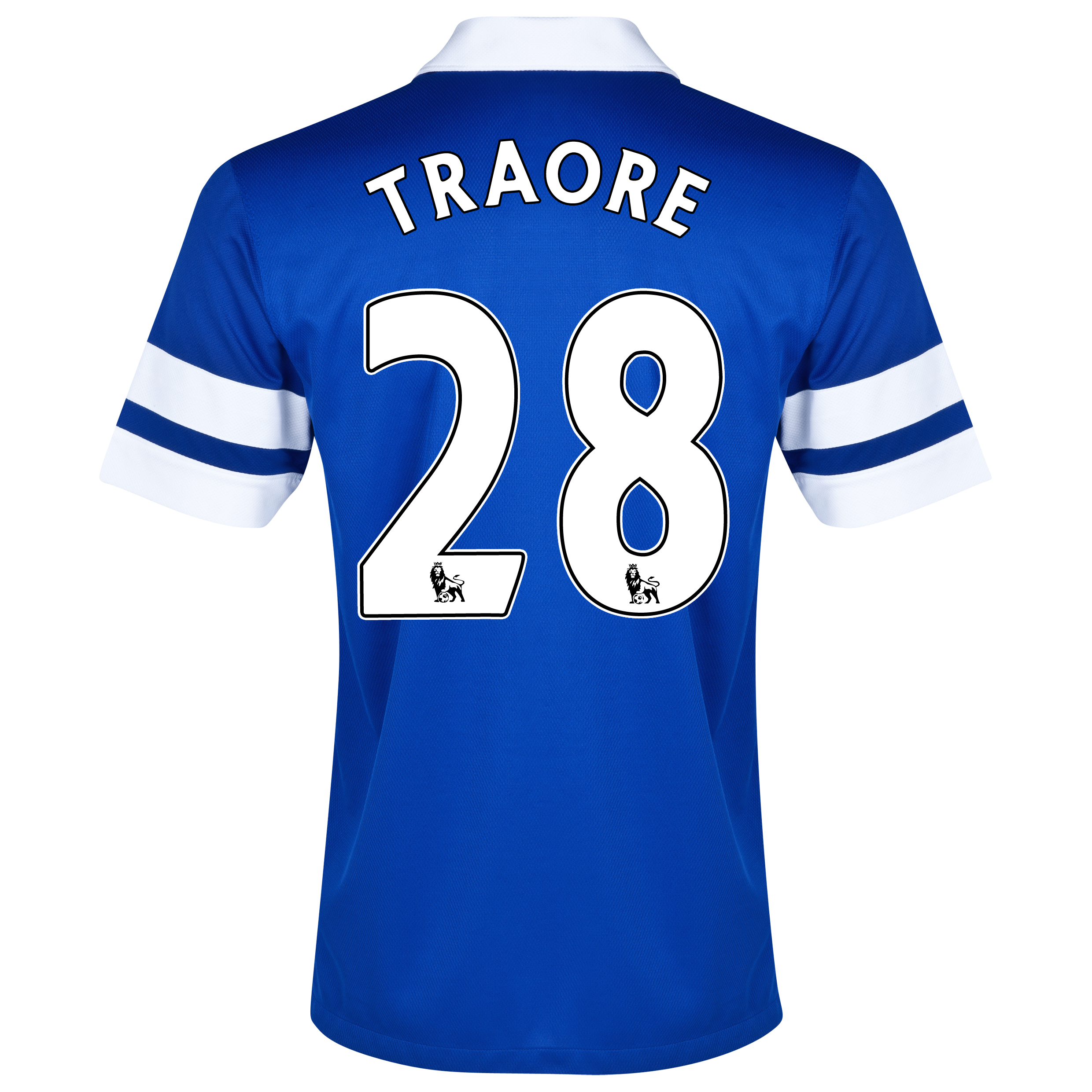 Everton Home Shirt 2013/14 - Junior Blue with Traore 28 printing