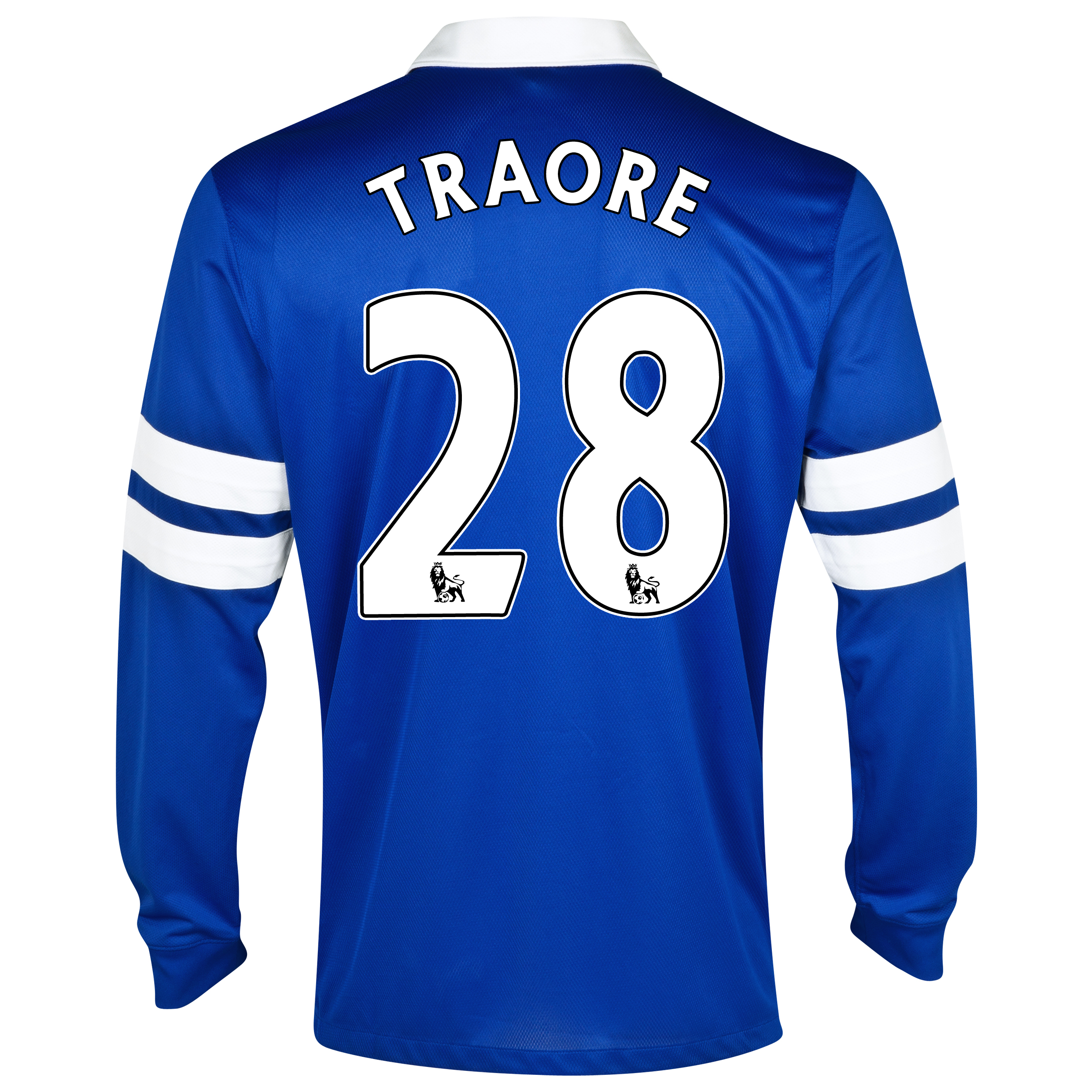 Everton Home Shirt 2013/14 - Junior - Long Sleeved Blue with Traore 28 printing
