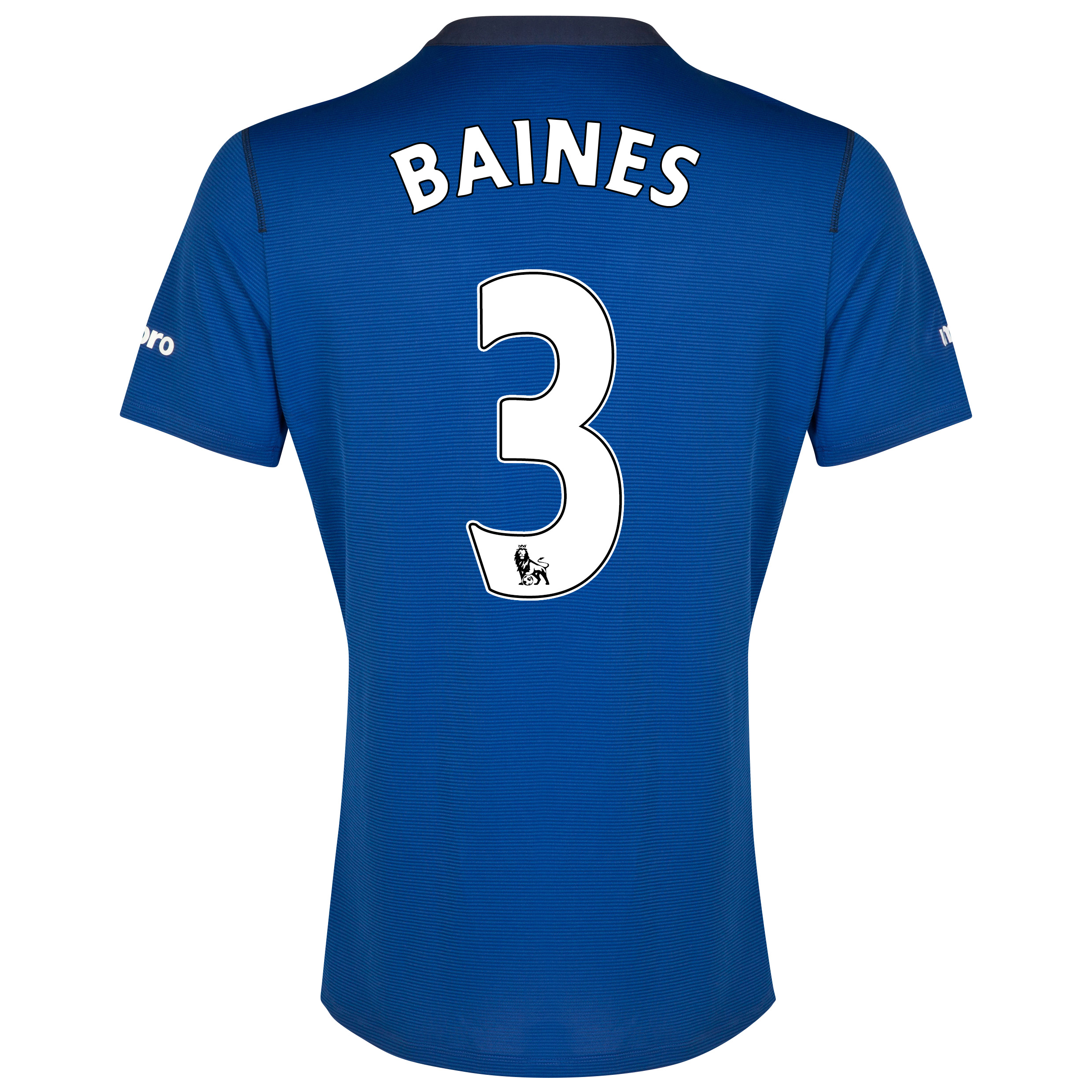 Everton SS Home Shirt 2014/15 with Baines 3 printing