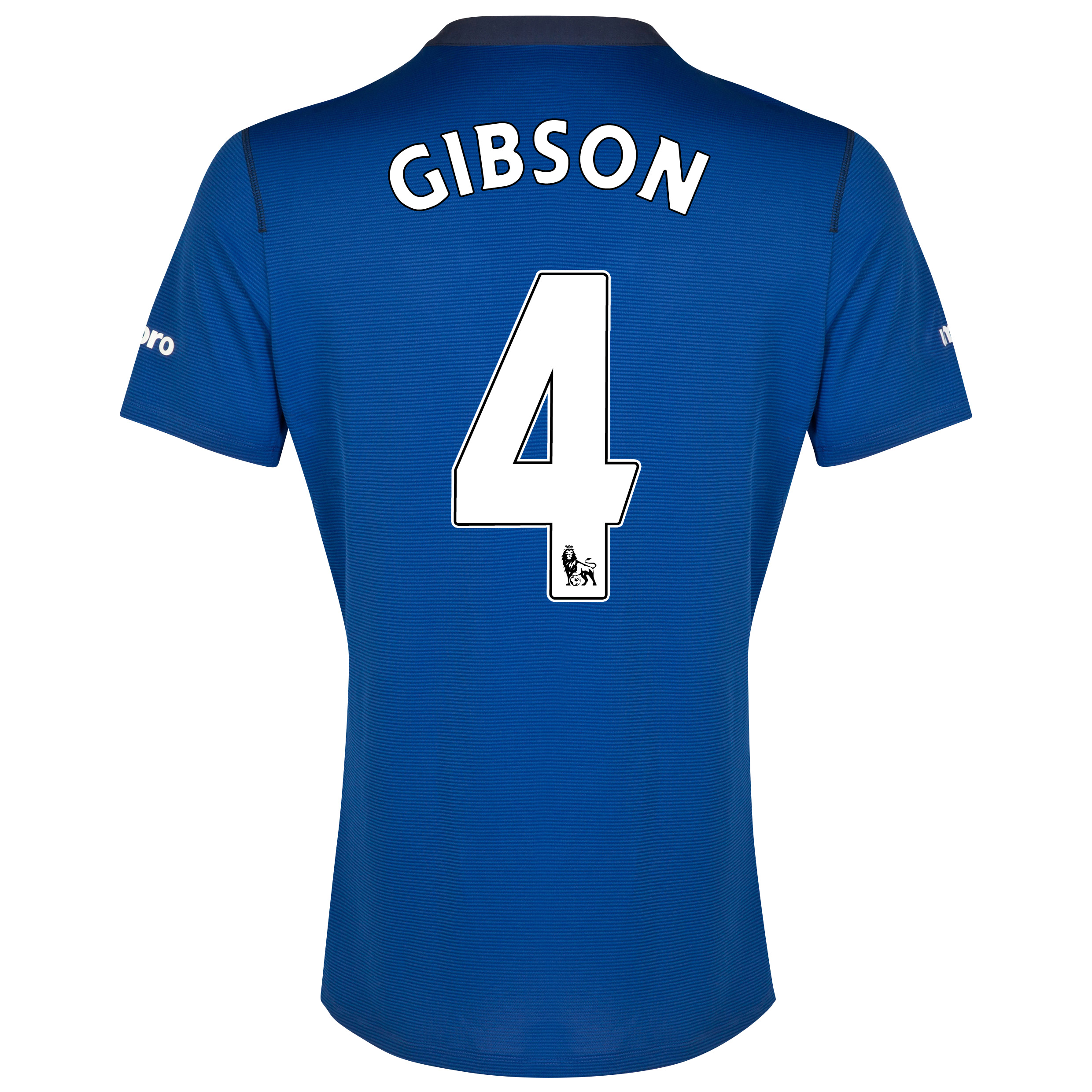 Everton SS Home Shirt 2014/15 with Gibson 4 printing