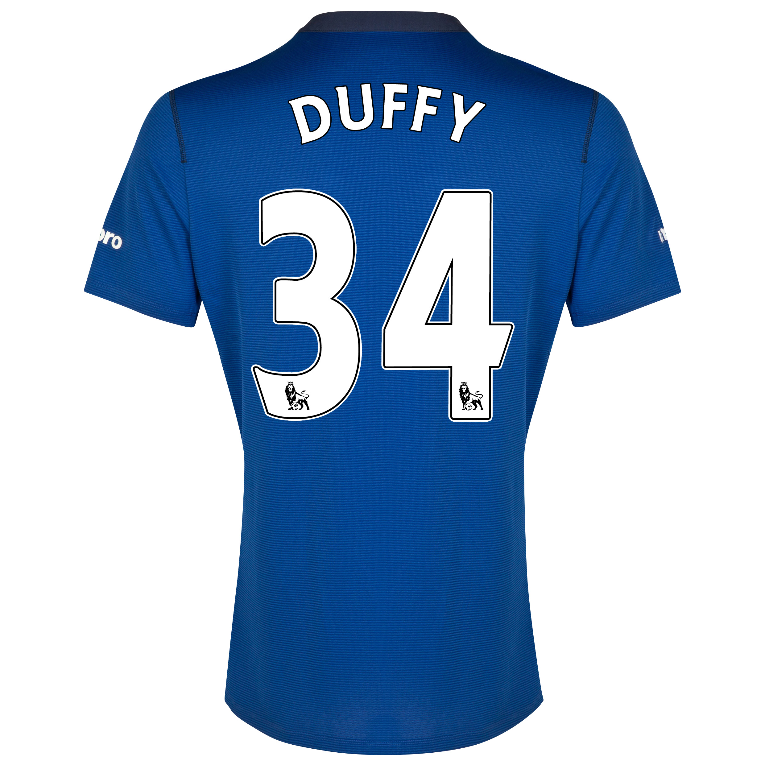 Everton SS Home Shirt 2014/15 with Duffy 34 printing