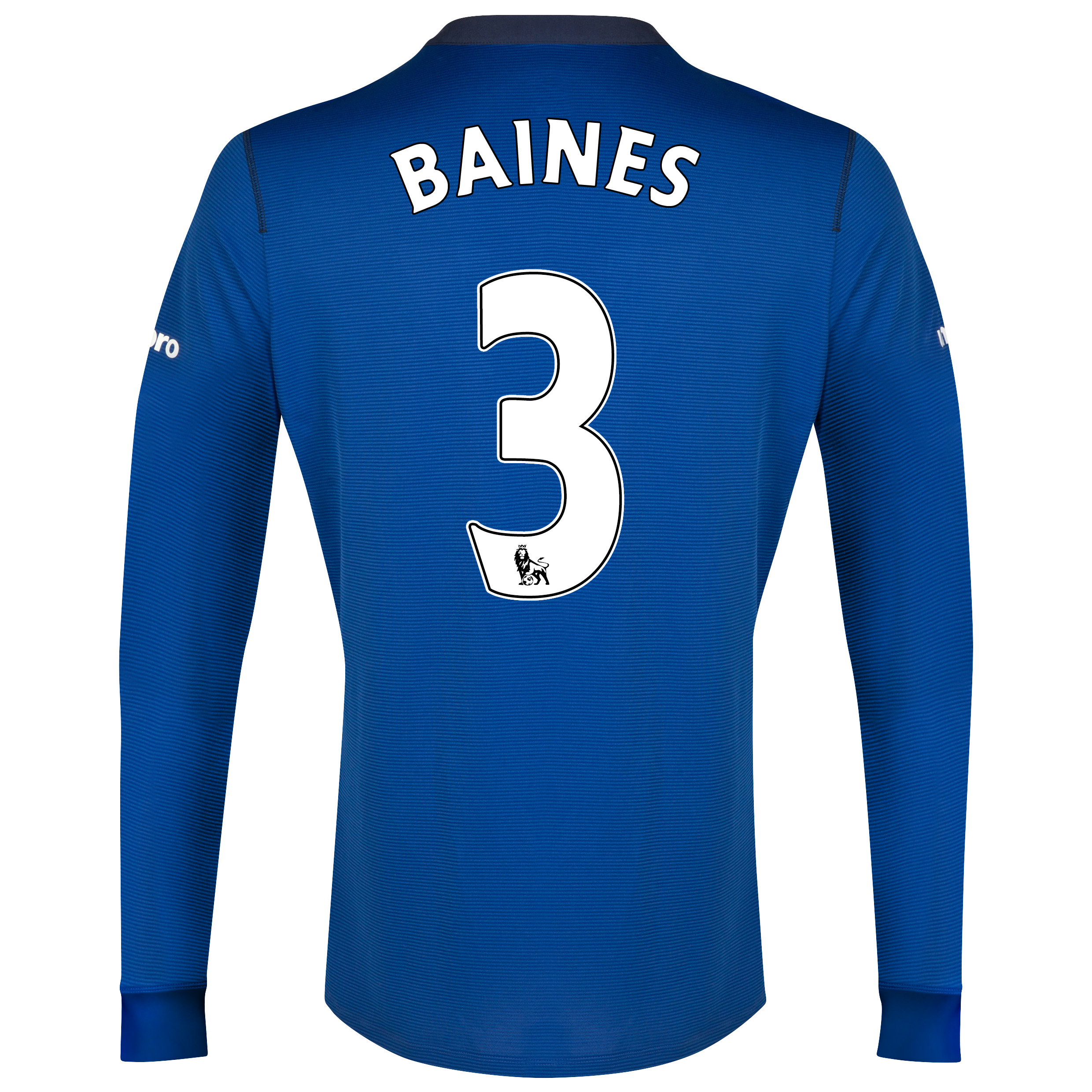 Everton LS Home Shirt 2014/15 with Baines 3 printing