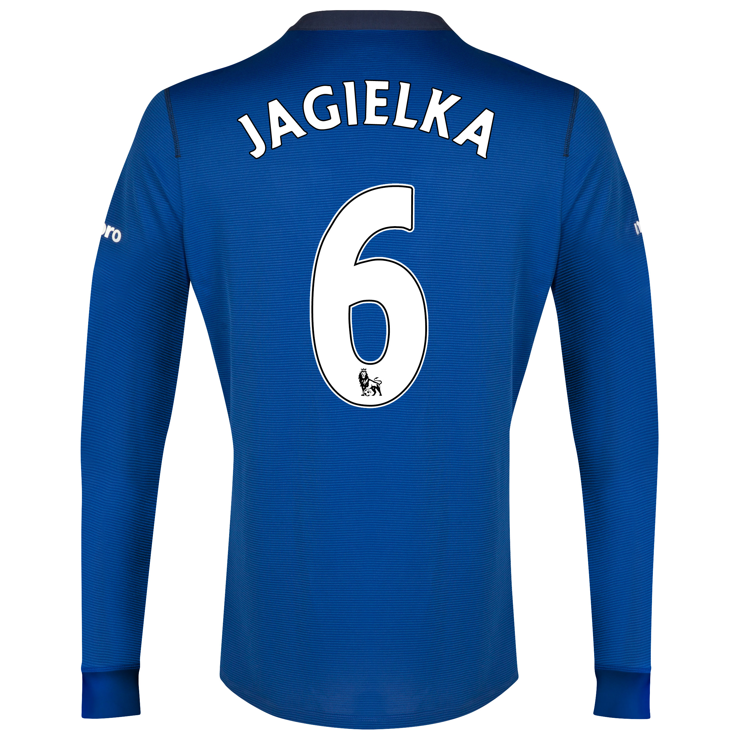 Everton LS Home Shirt 2014/15 with Jagielka 6 printing