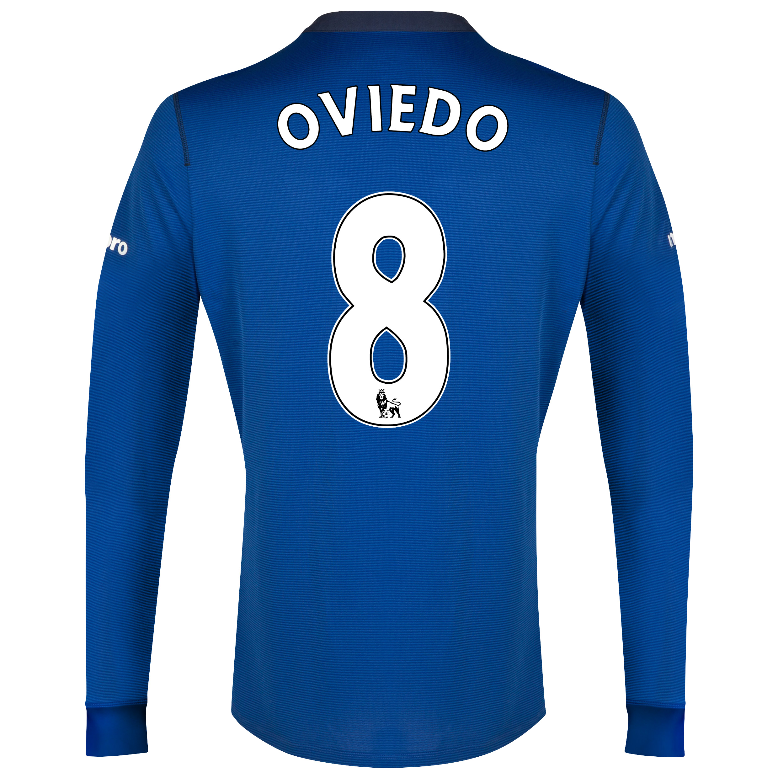 Everton LS Home Shirt 2014/15 with Oviedo 8 printing
